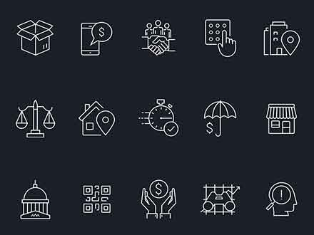 Sketch Financial Icons
