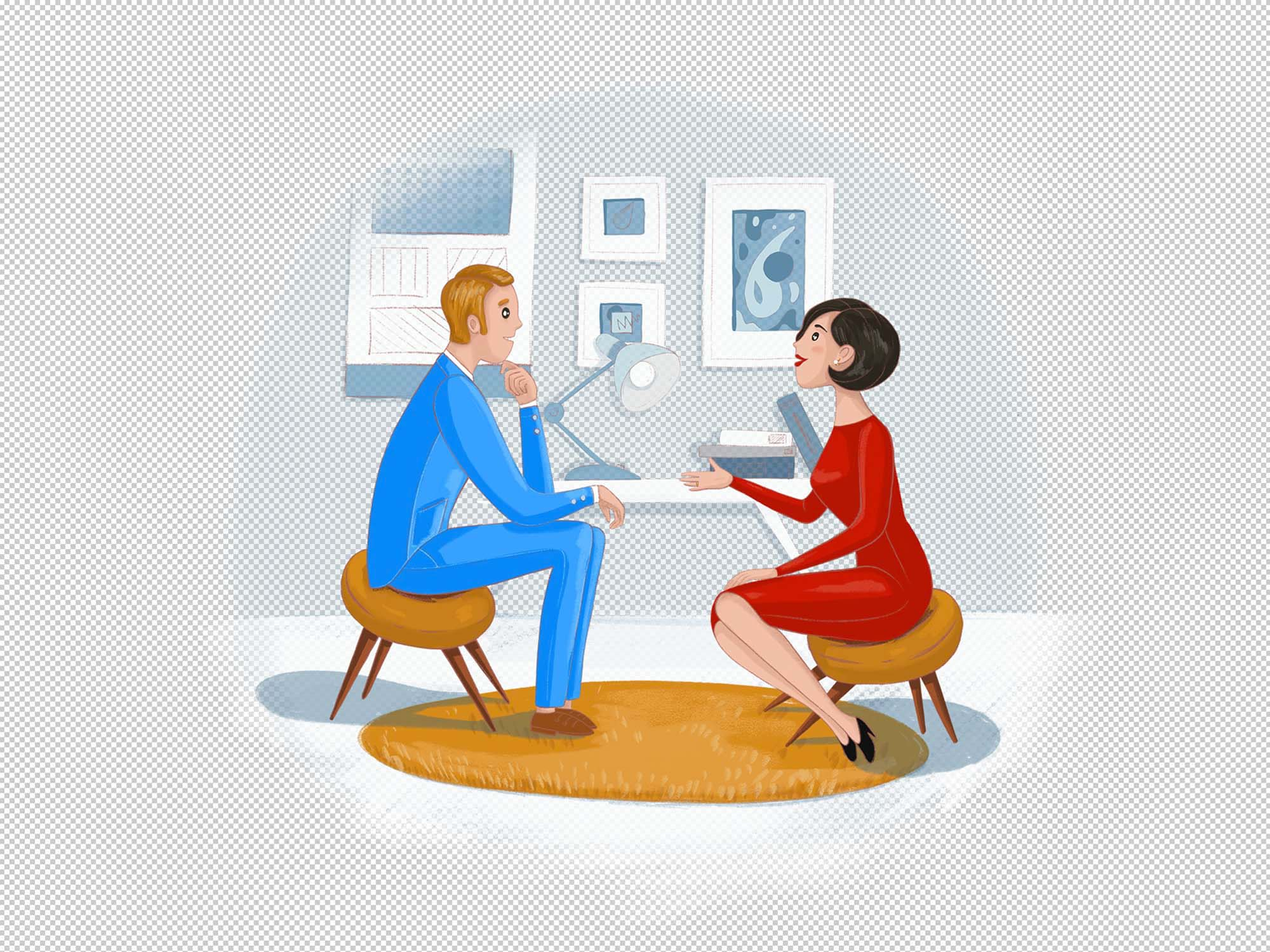 Talk with Client Illustration 2