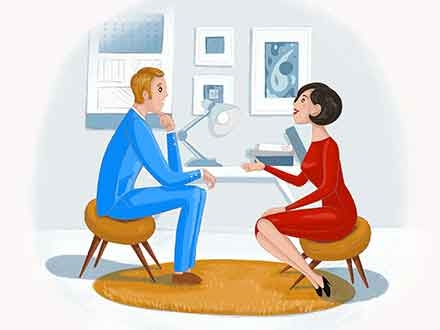 Talk with Client Illustration