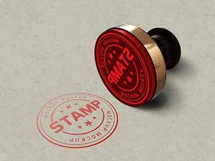 Tiny Round Stamp Mockup