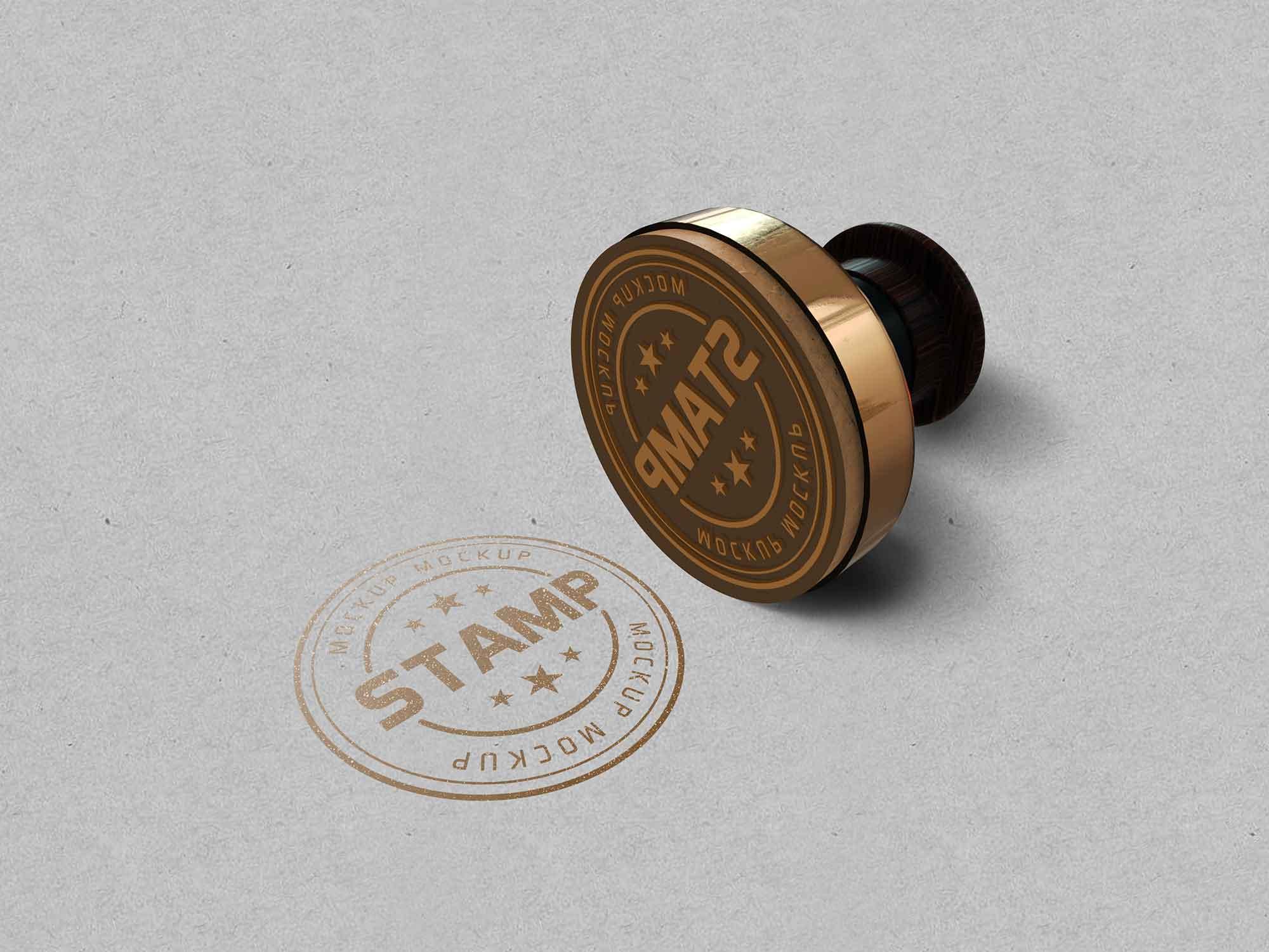 Tiny Round Stamp Mockup 2