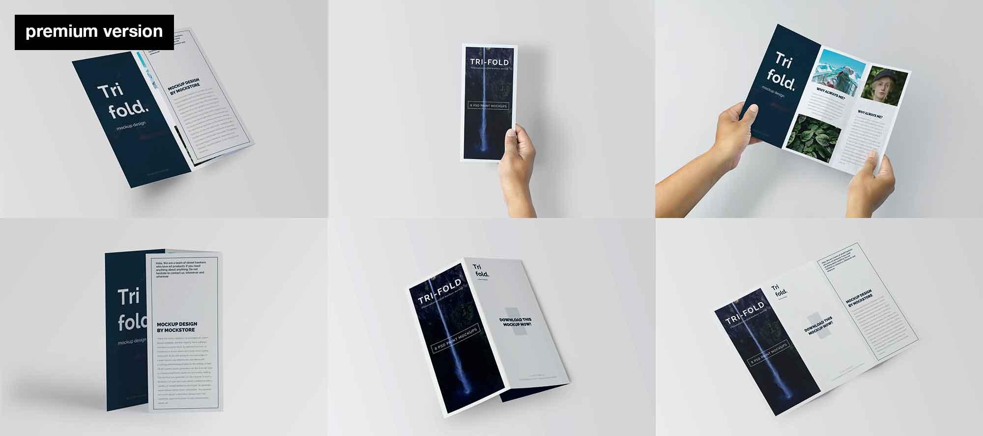 Trifold Brochure Mockup 2