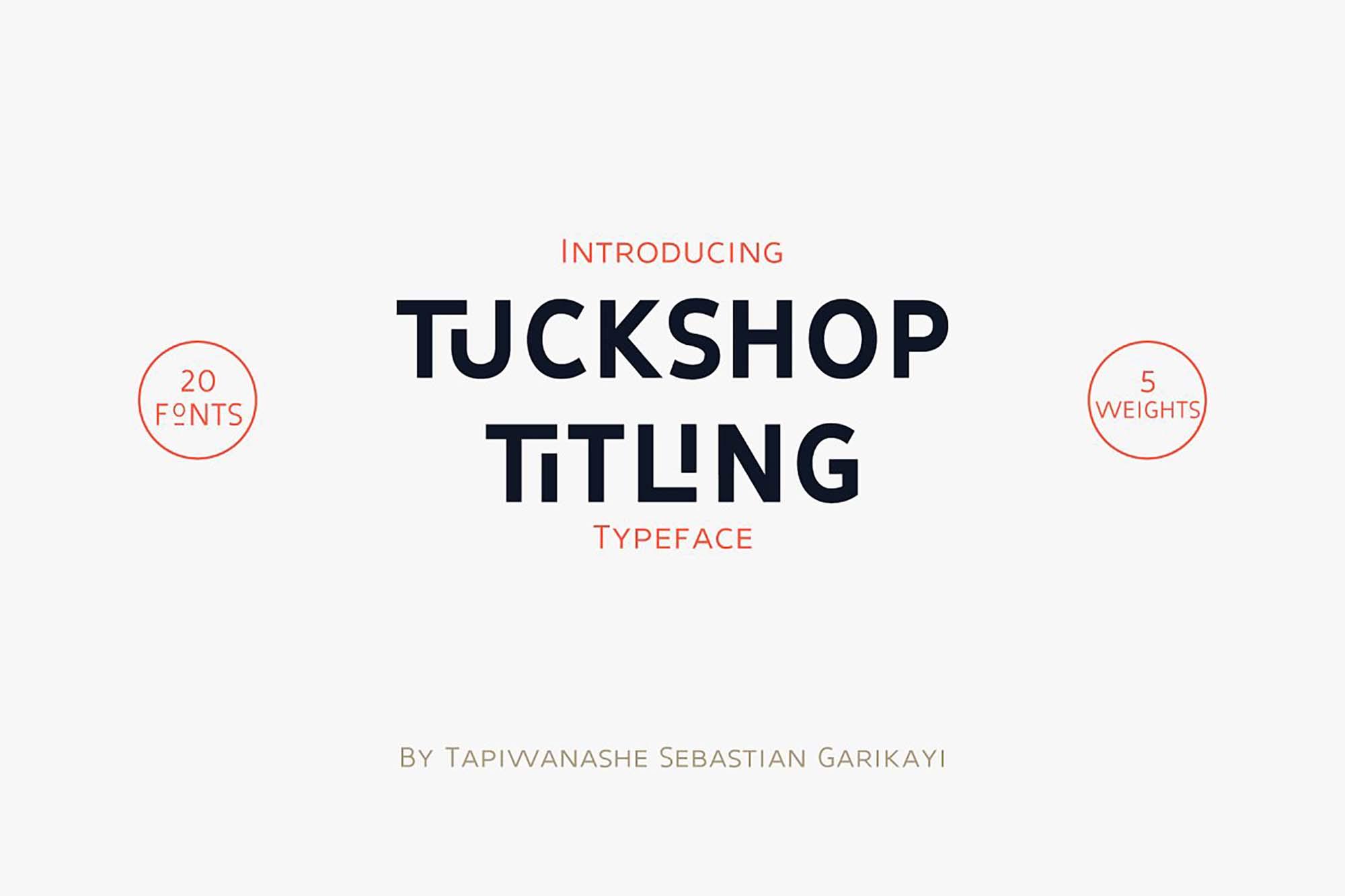 Tuckshop Titling Font Family 1