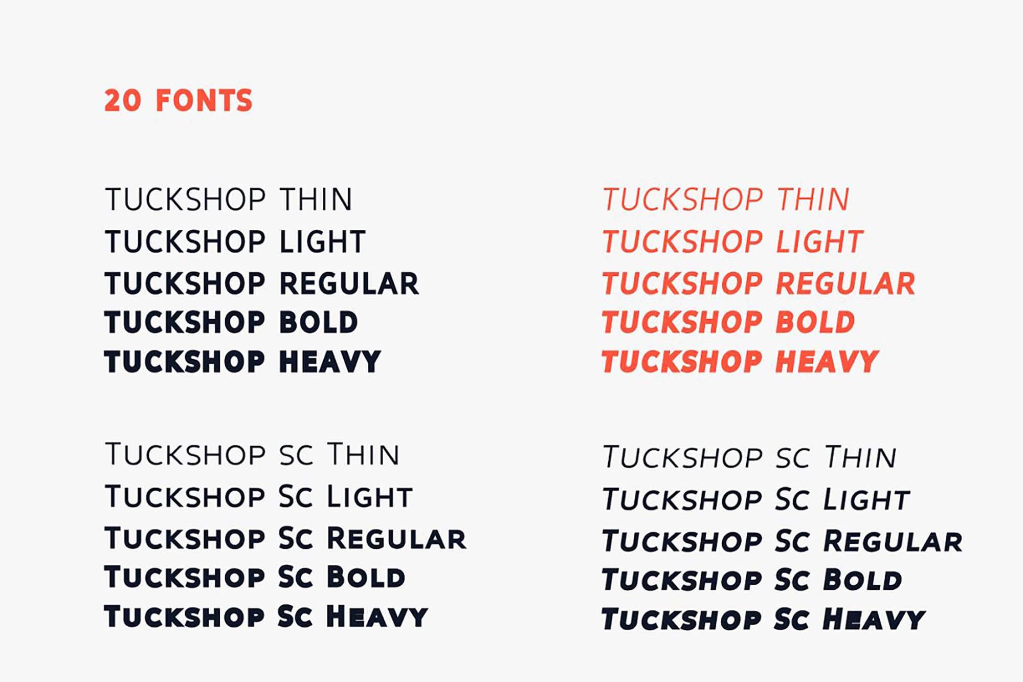 Tuckshop Titling Font Family 2