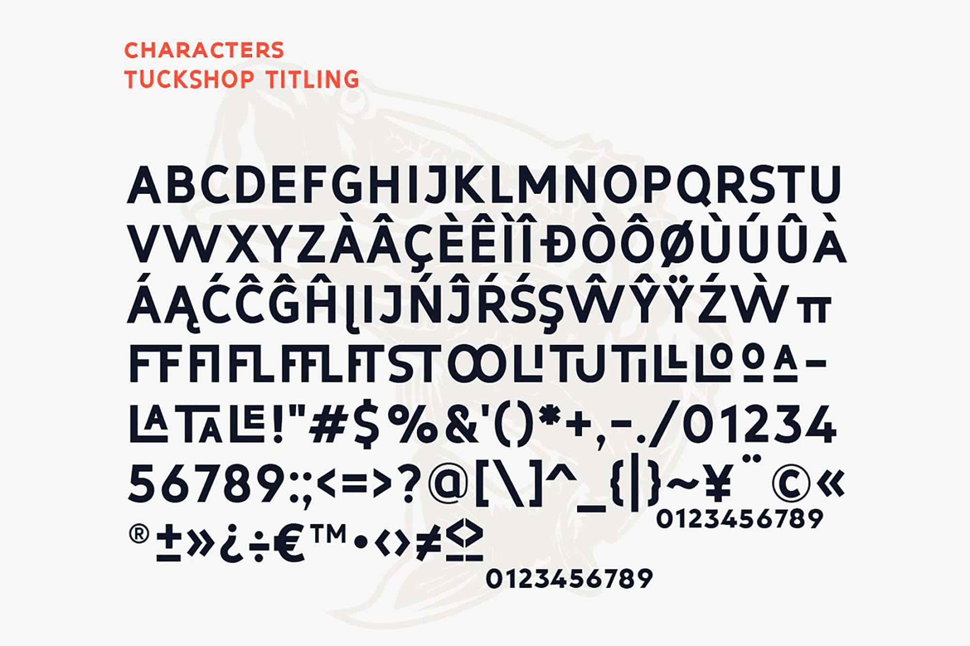 Tuckshop Titling Font Family 4