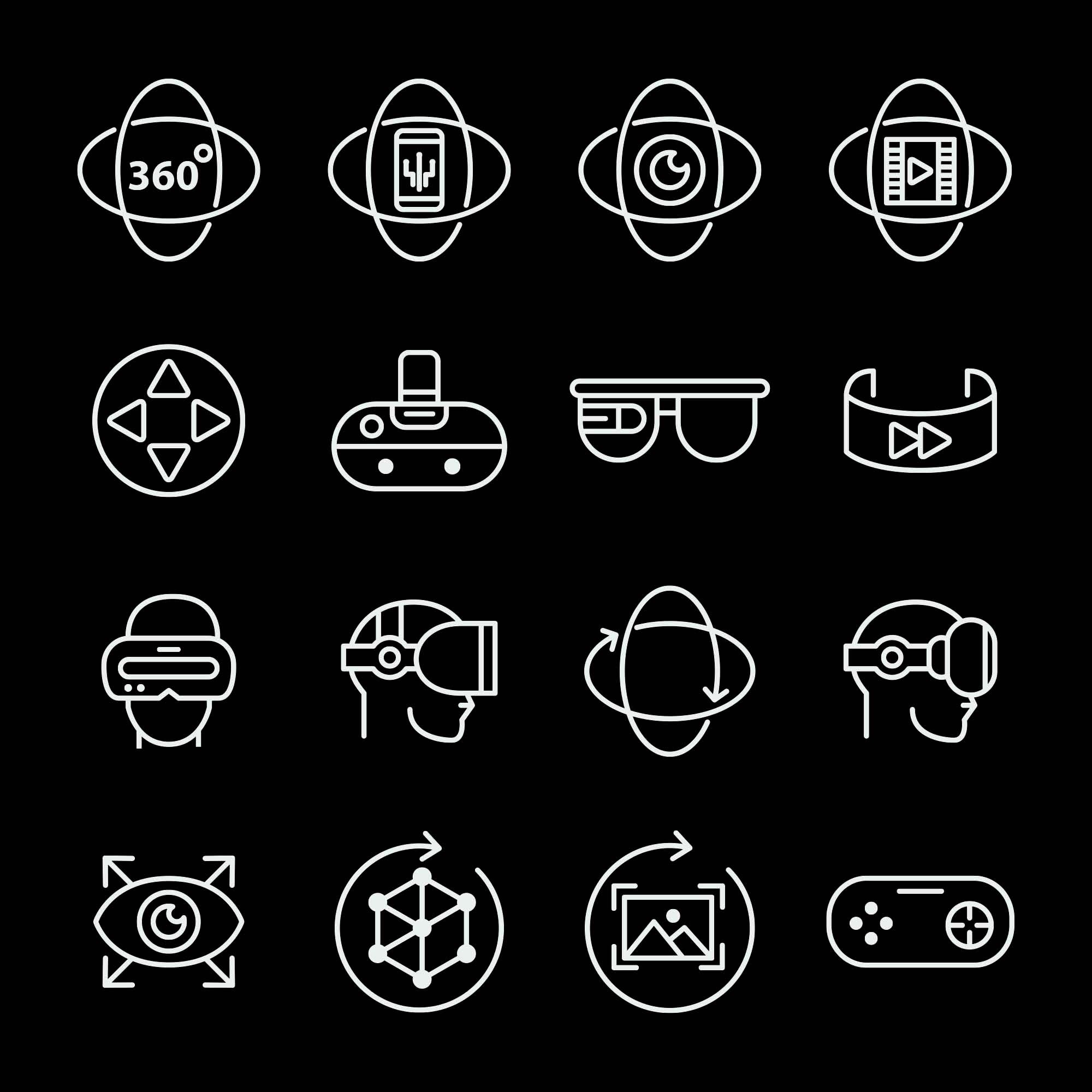 Virtual Reality Vector Icons 3