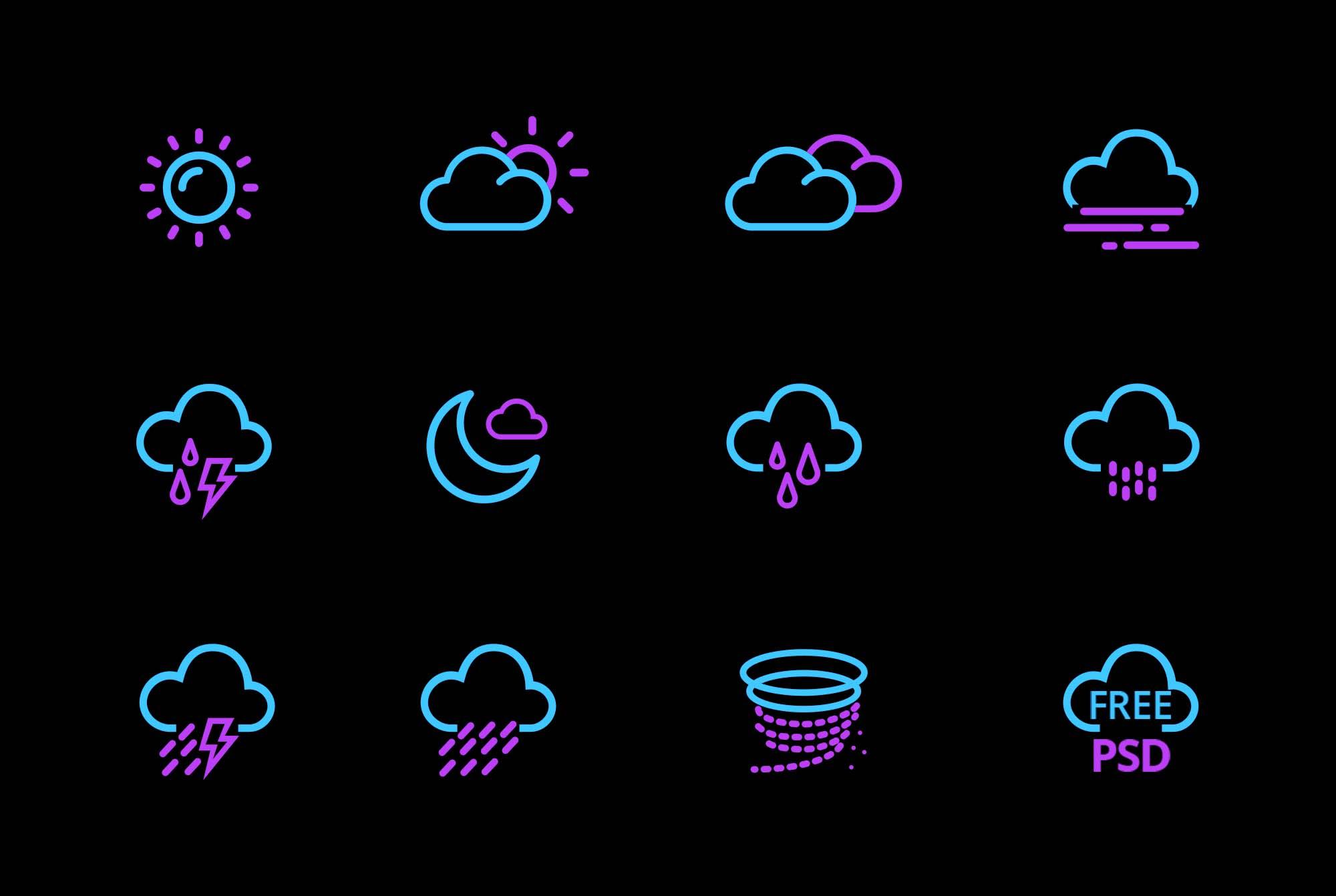 Weather App Icons 2