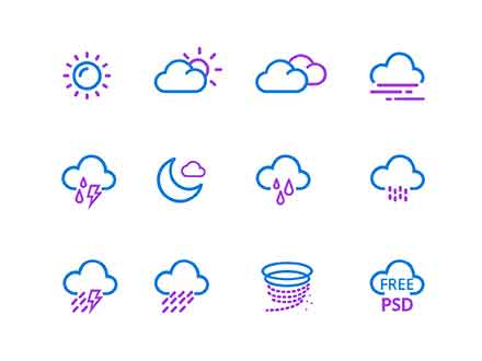 Weather App Icons