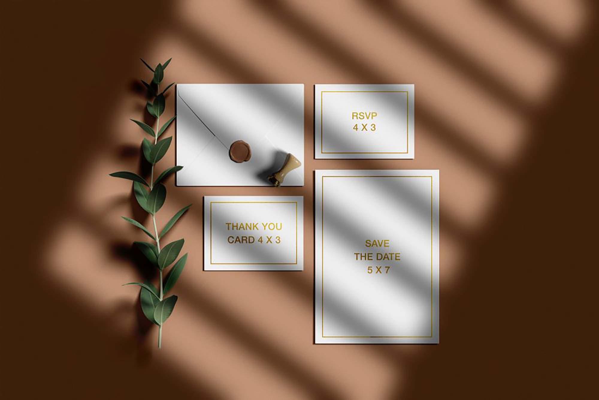 Wedding Invitation Suite Mockup 2