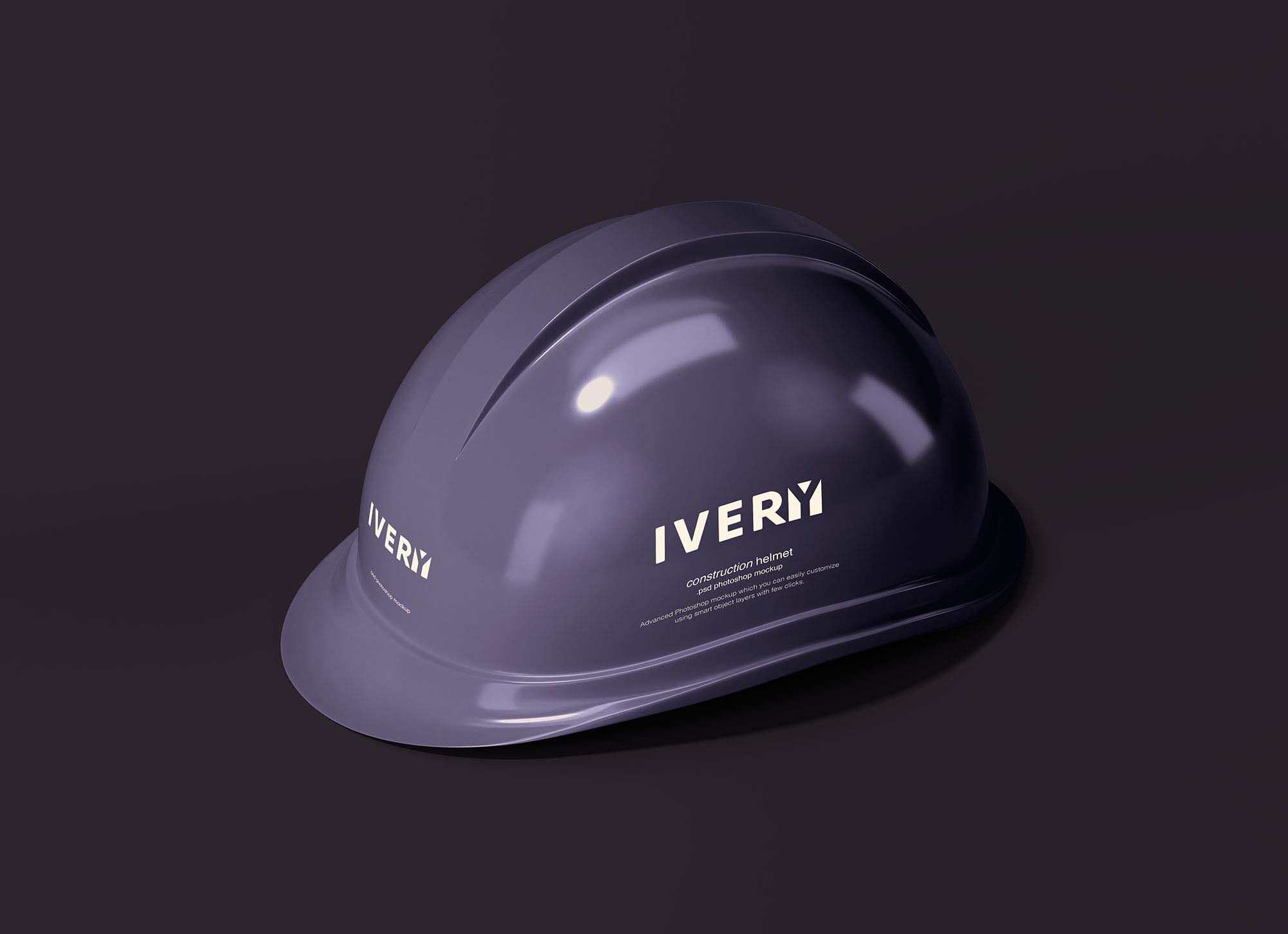 Dark Construction Helmet Mockup