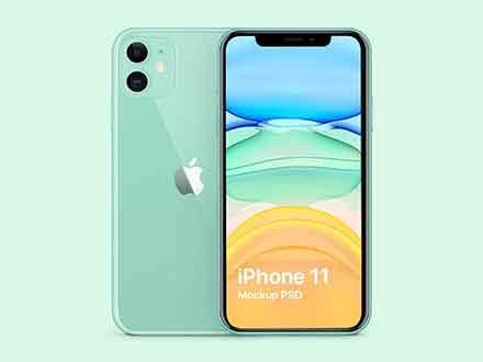 iPhone 11 Green Mockup
