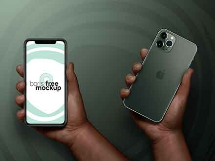 iPhone 11 Pro Max in Hand Mockup