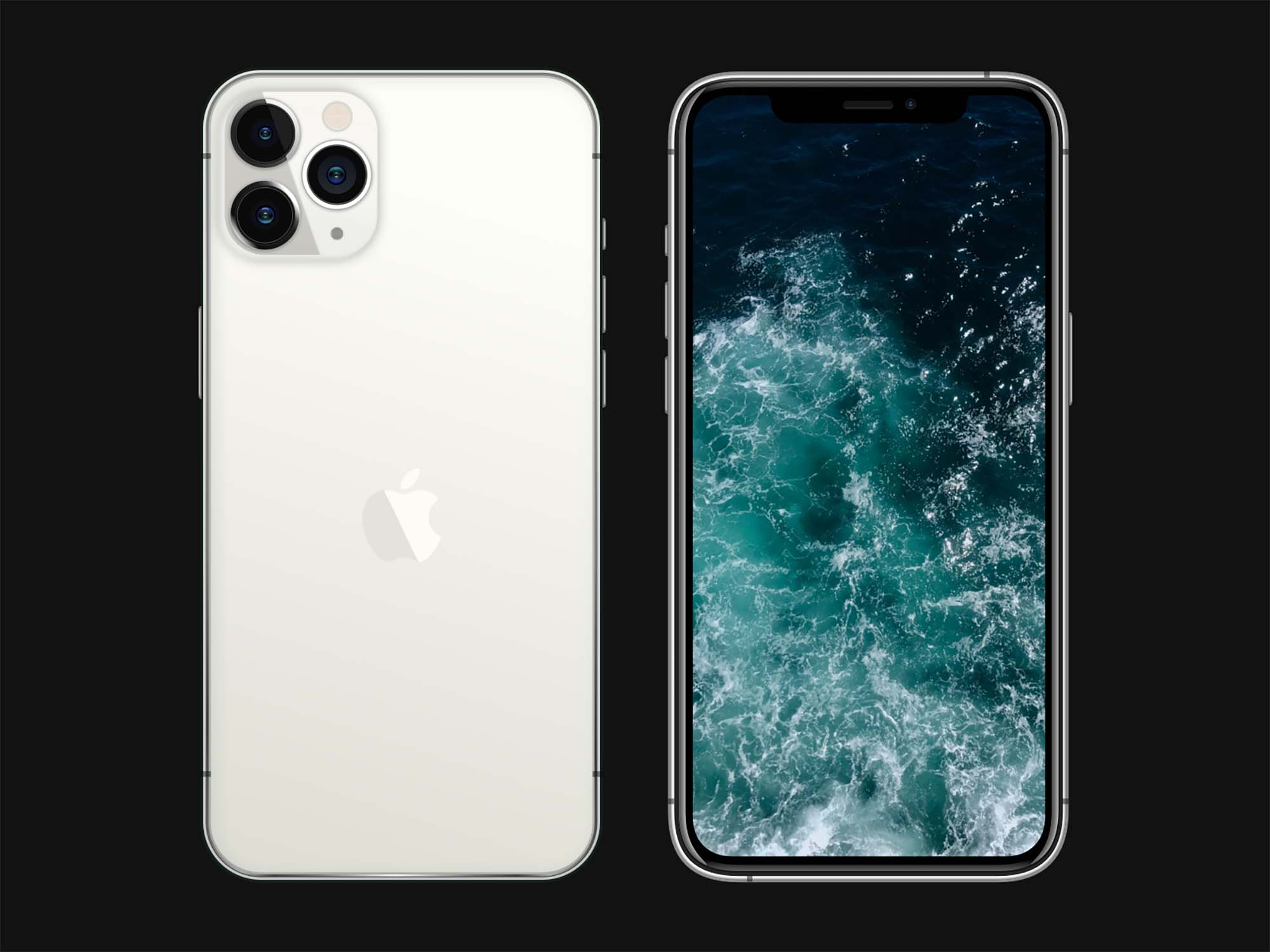 iPhone 11 Pro Sketch Mockup 2