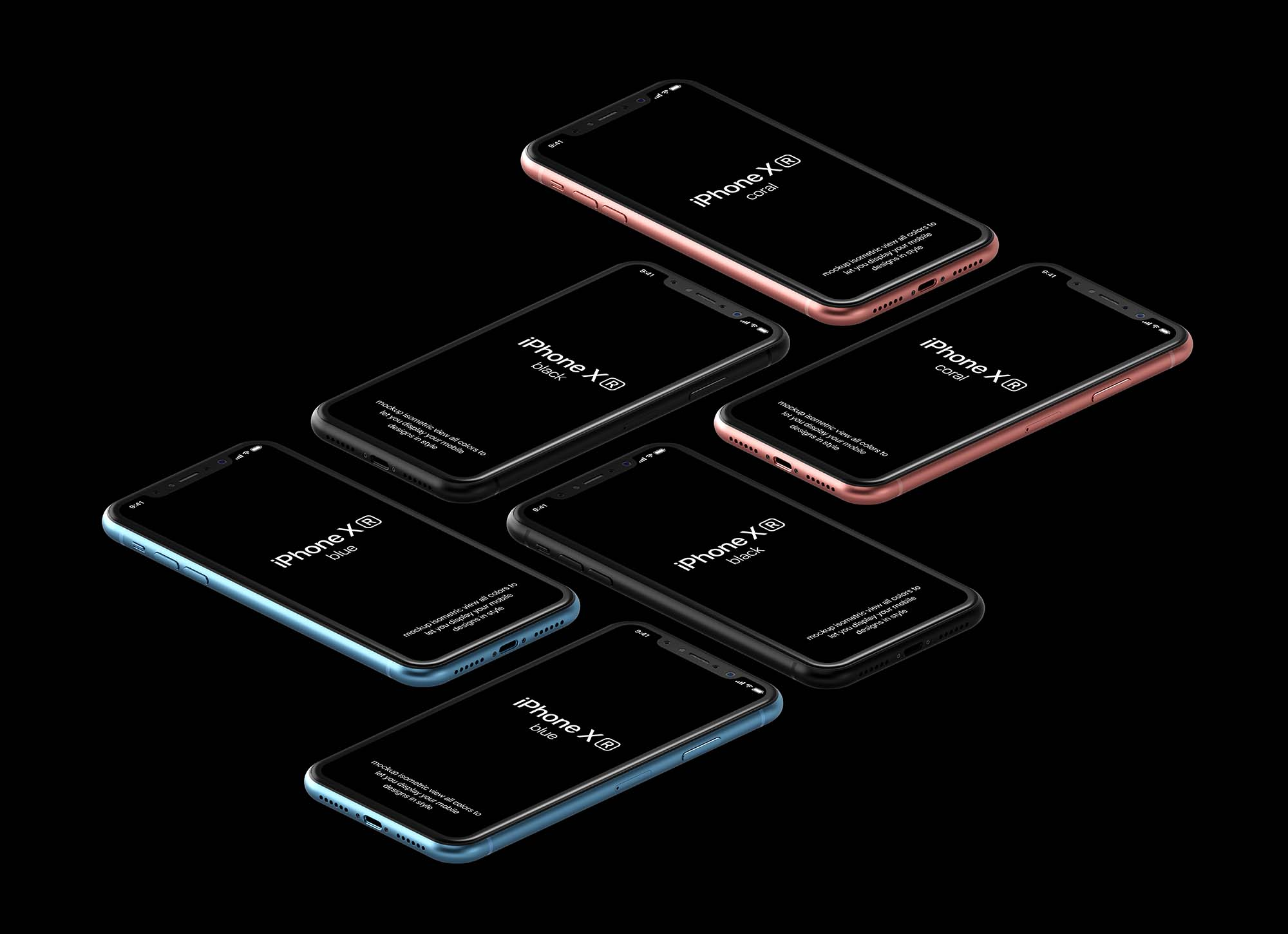 iPhone XR Mockup Black