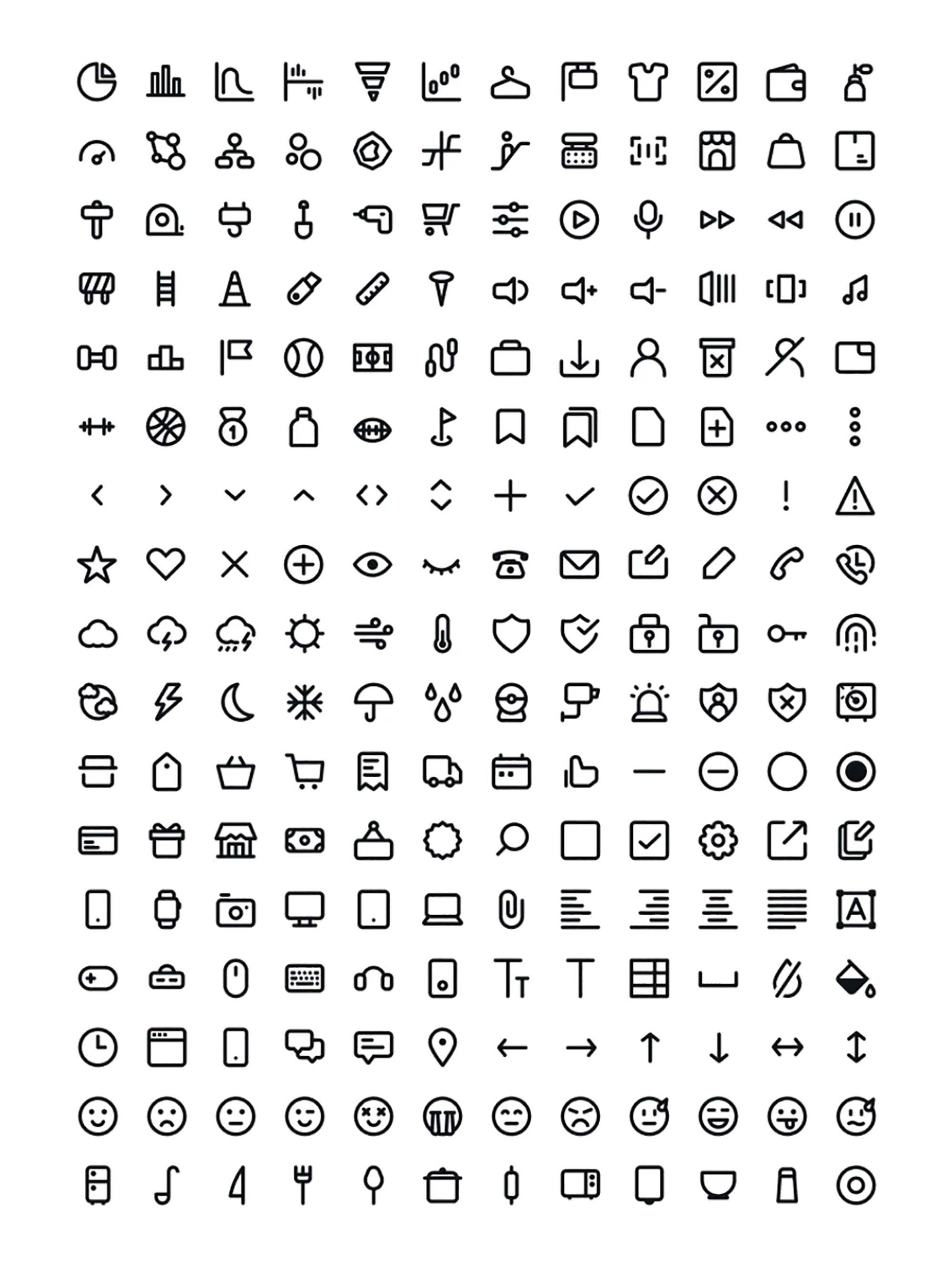 240 Line Vector Icons