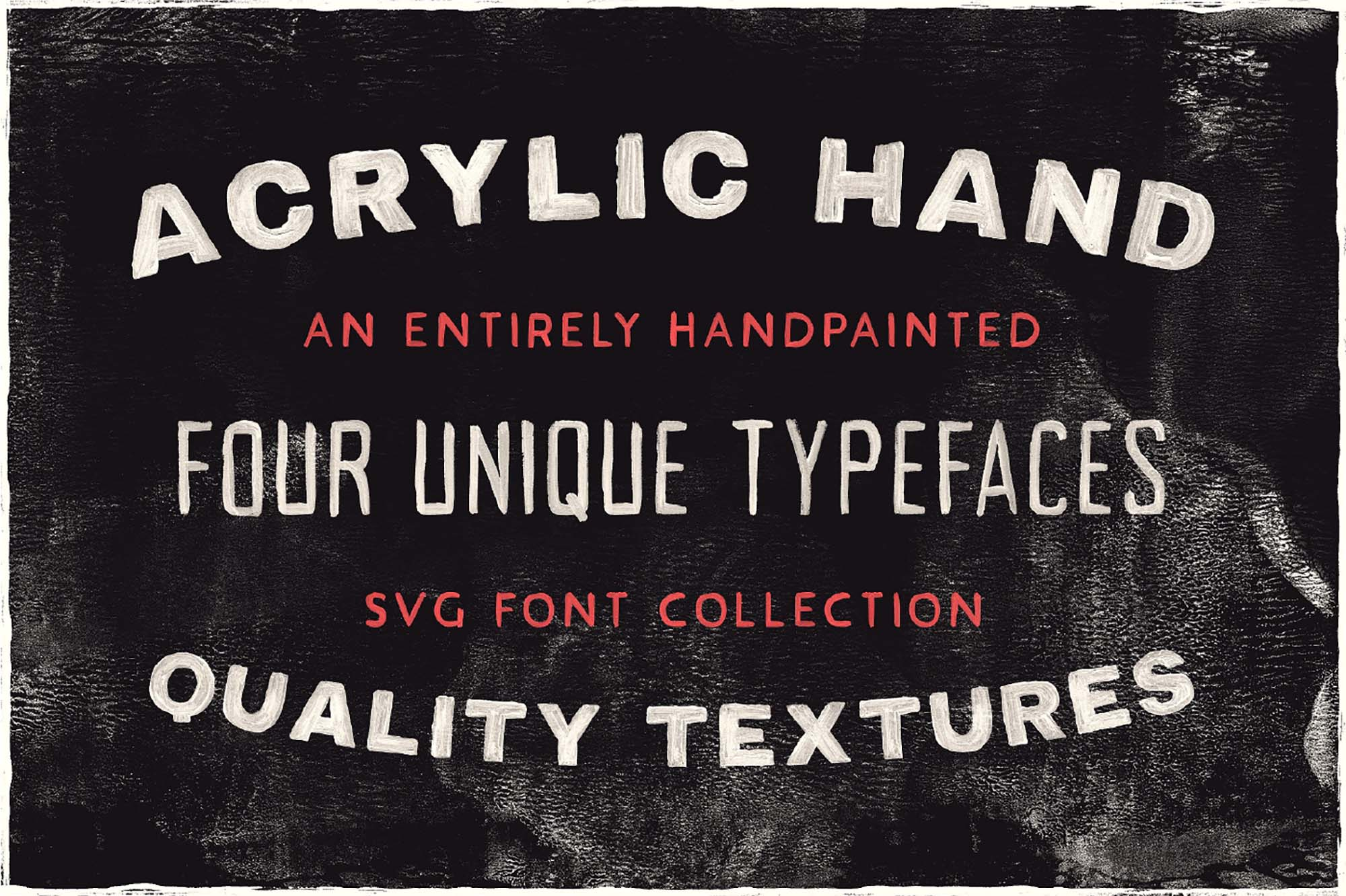 Acrylic Hand Thick Font