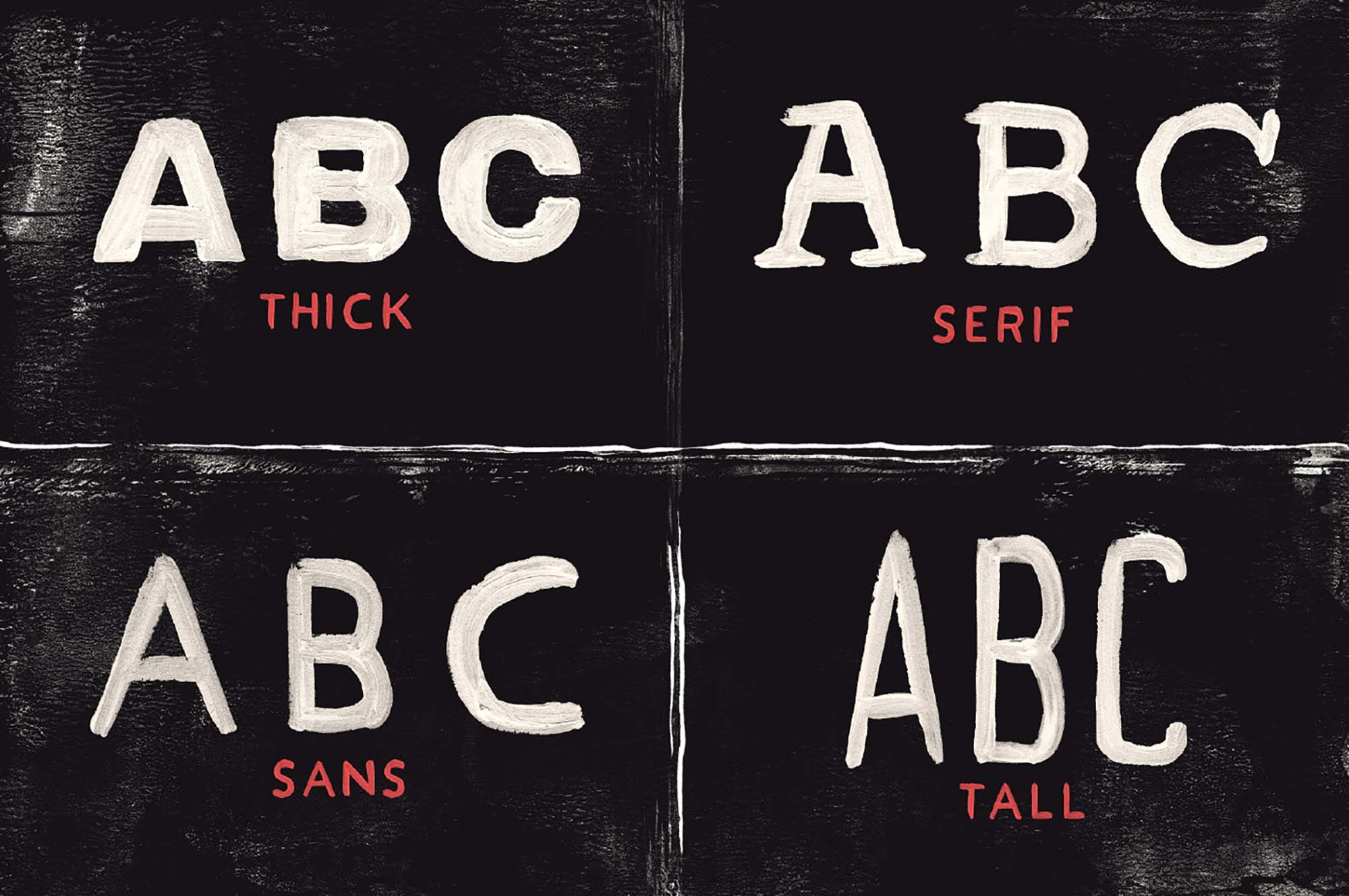 Acrylic Hand Thick Font 3