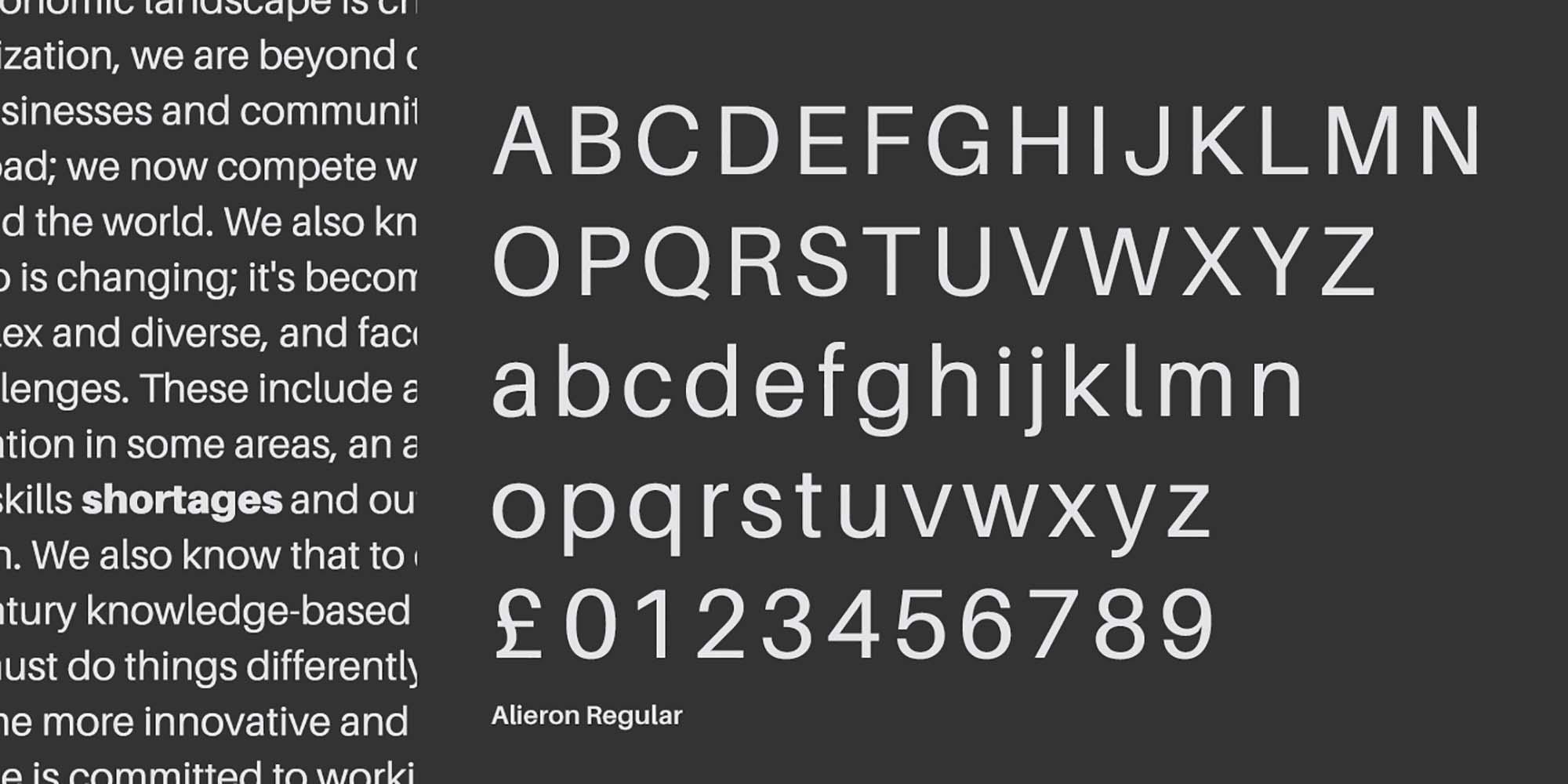 Aileron Sans Serif Font 3