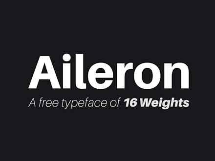 Aileron Sans Serif Font