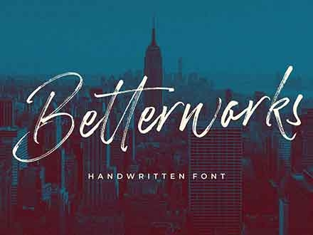 Betterwork Script Font