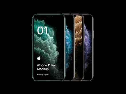 Black iPhone 11 Pro Mockup 2