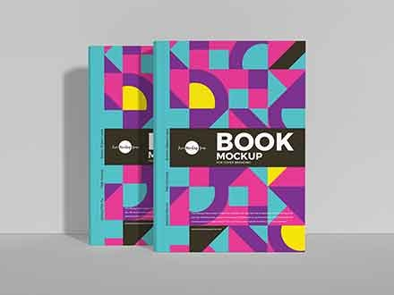 Book Cover Branding Mockup