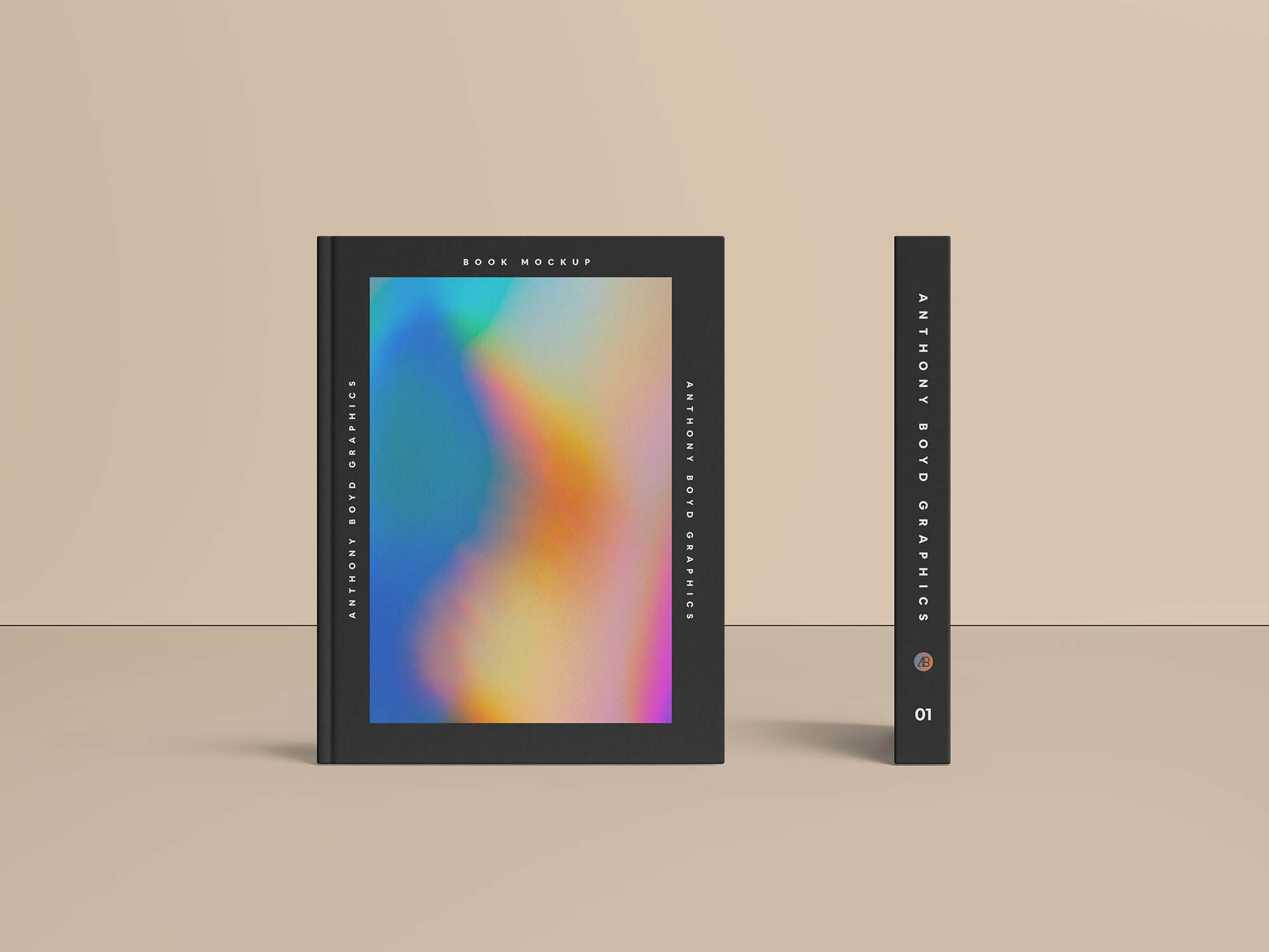 Free Cover and Spine Mockup