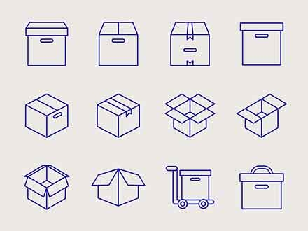 Box Packaging Icons