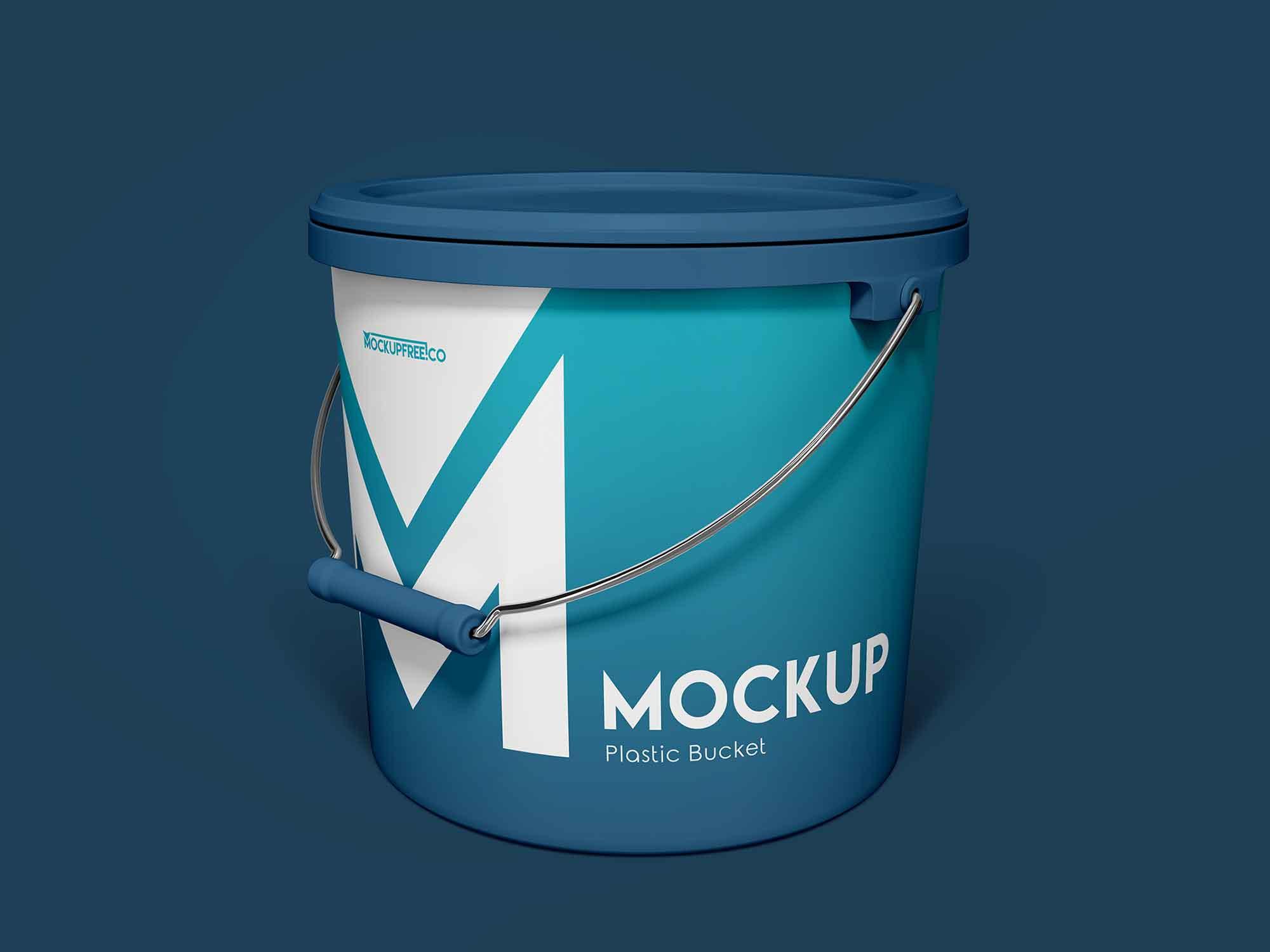 Free Plastic Bucket Mockup Psd