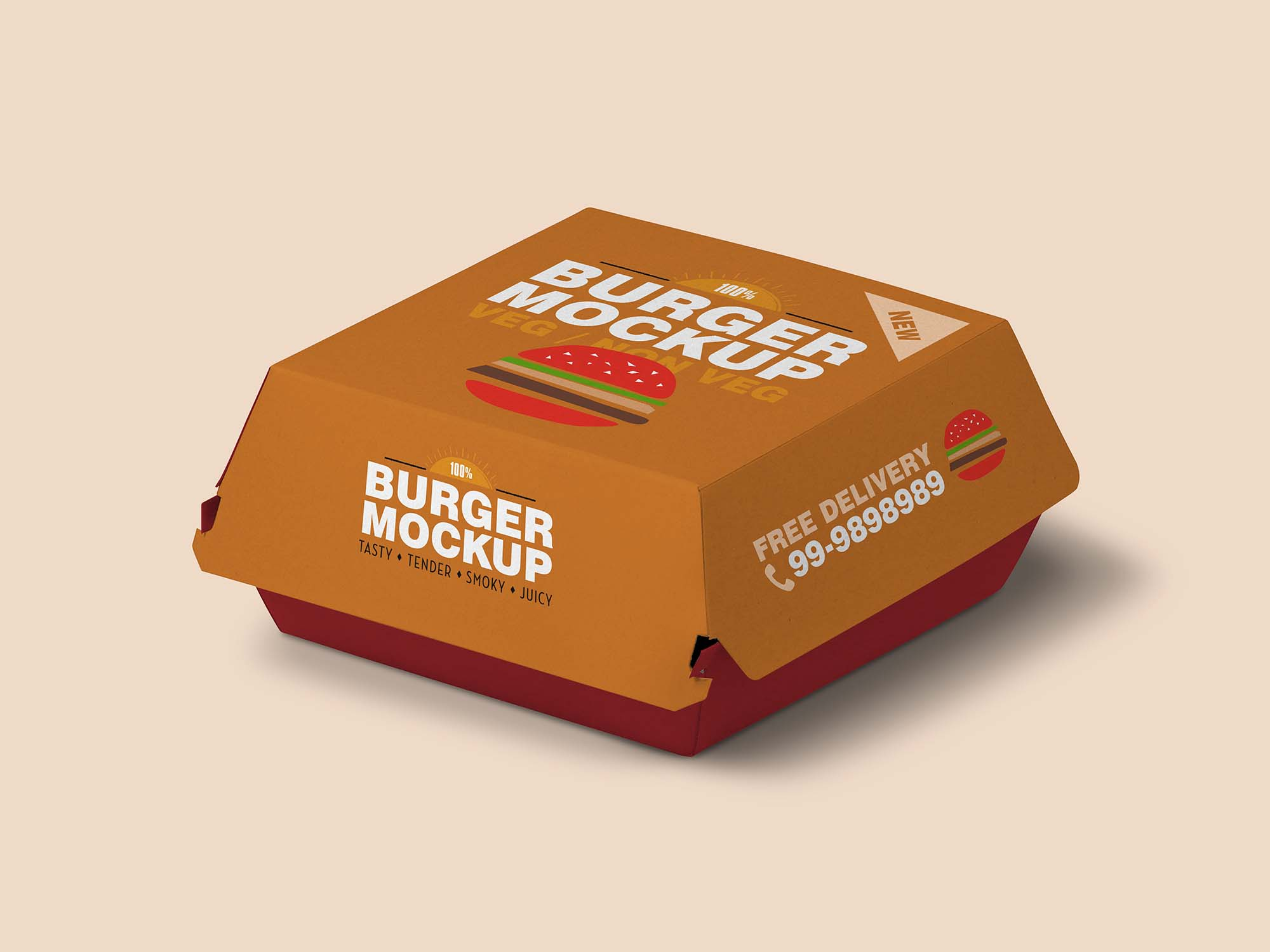 Burger Packaging Mockup