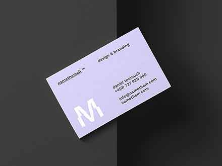 Diagonal Business Card Mockup