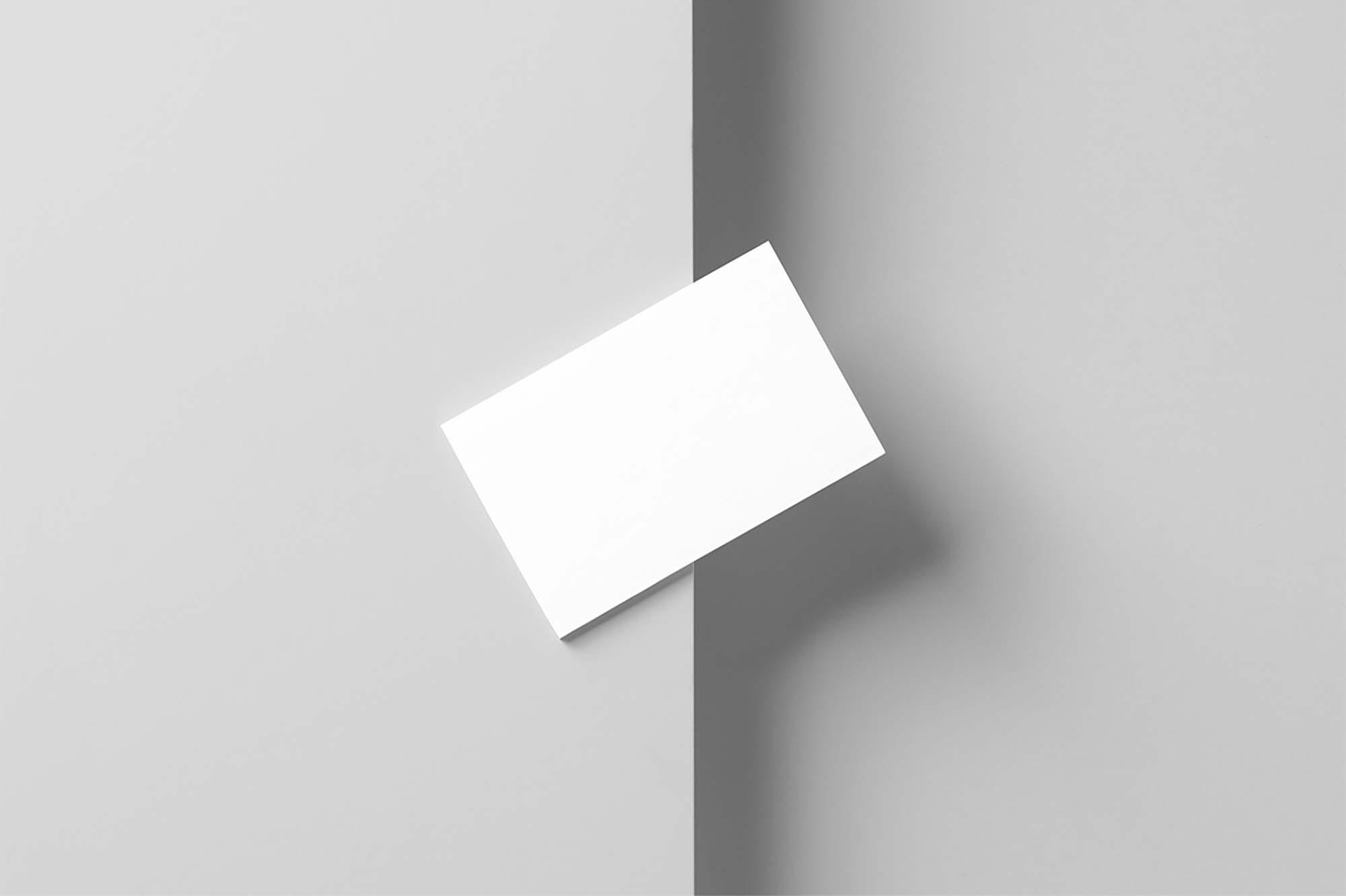 Diagonal Business Card Mockup 2