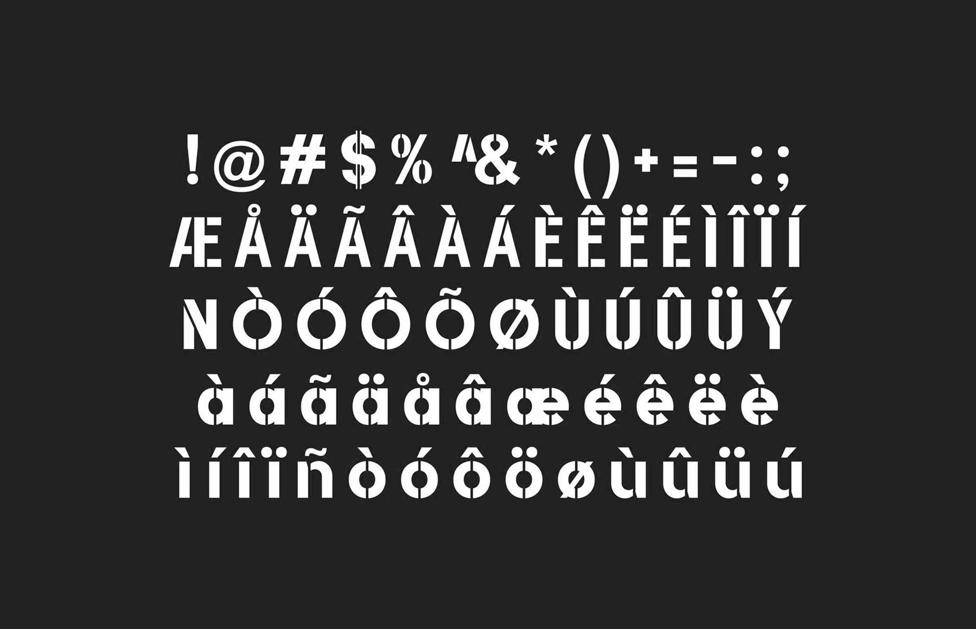Dovetail Sans Font Letters