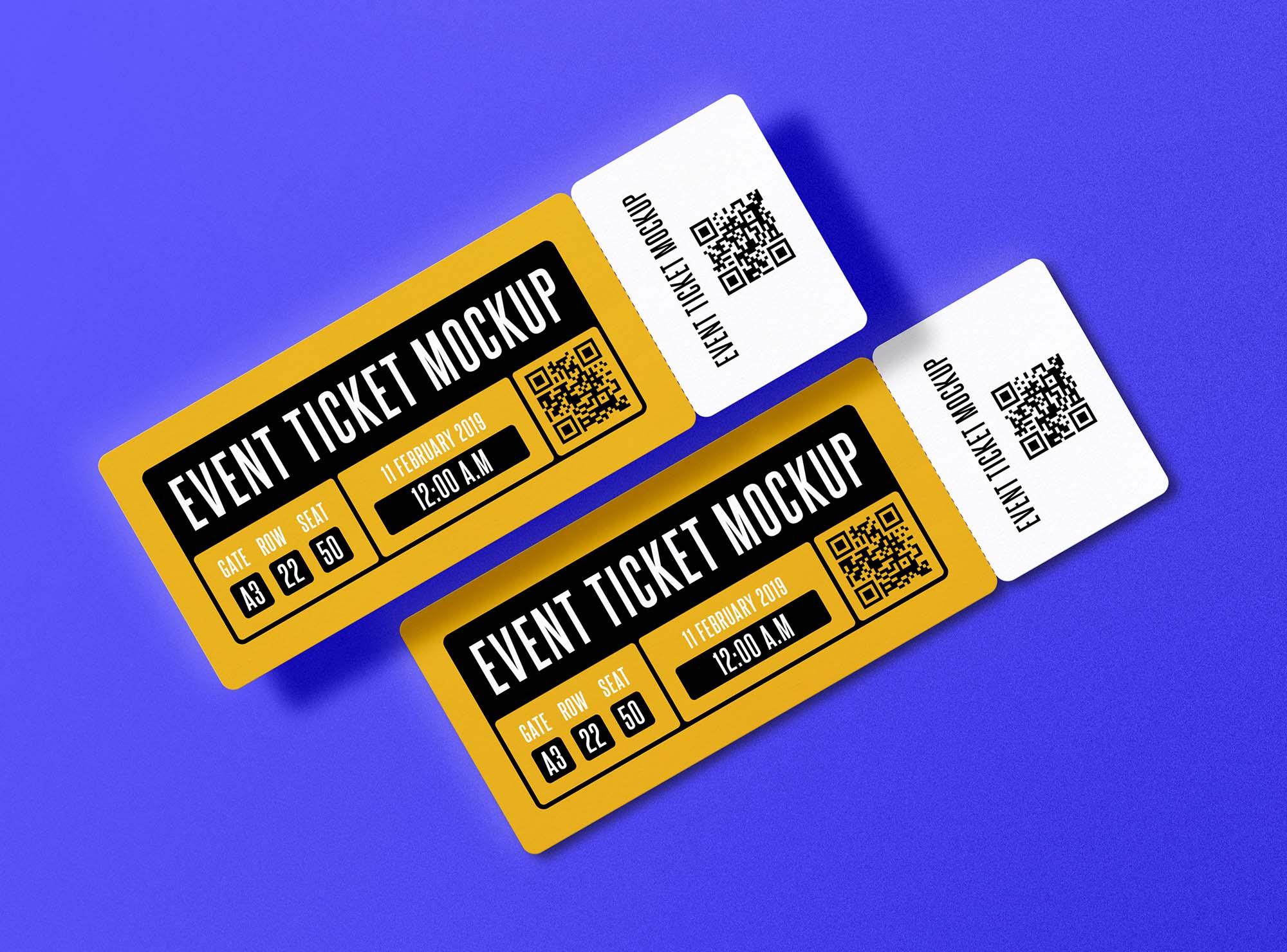 Event Ticket Mockup 2