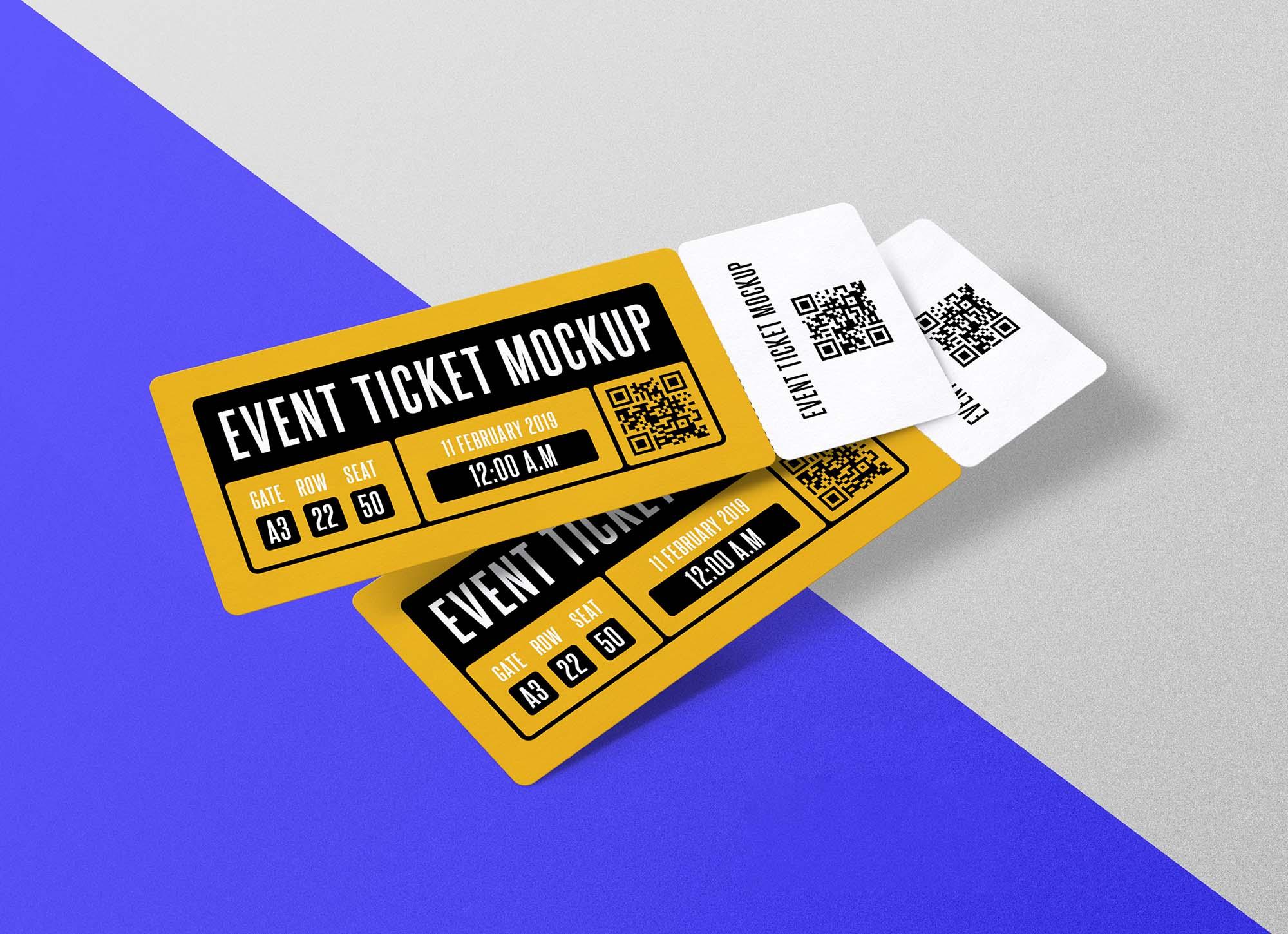 Event Ticket Mockup 3