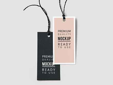 Fashion Label Tag Mockup