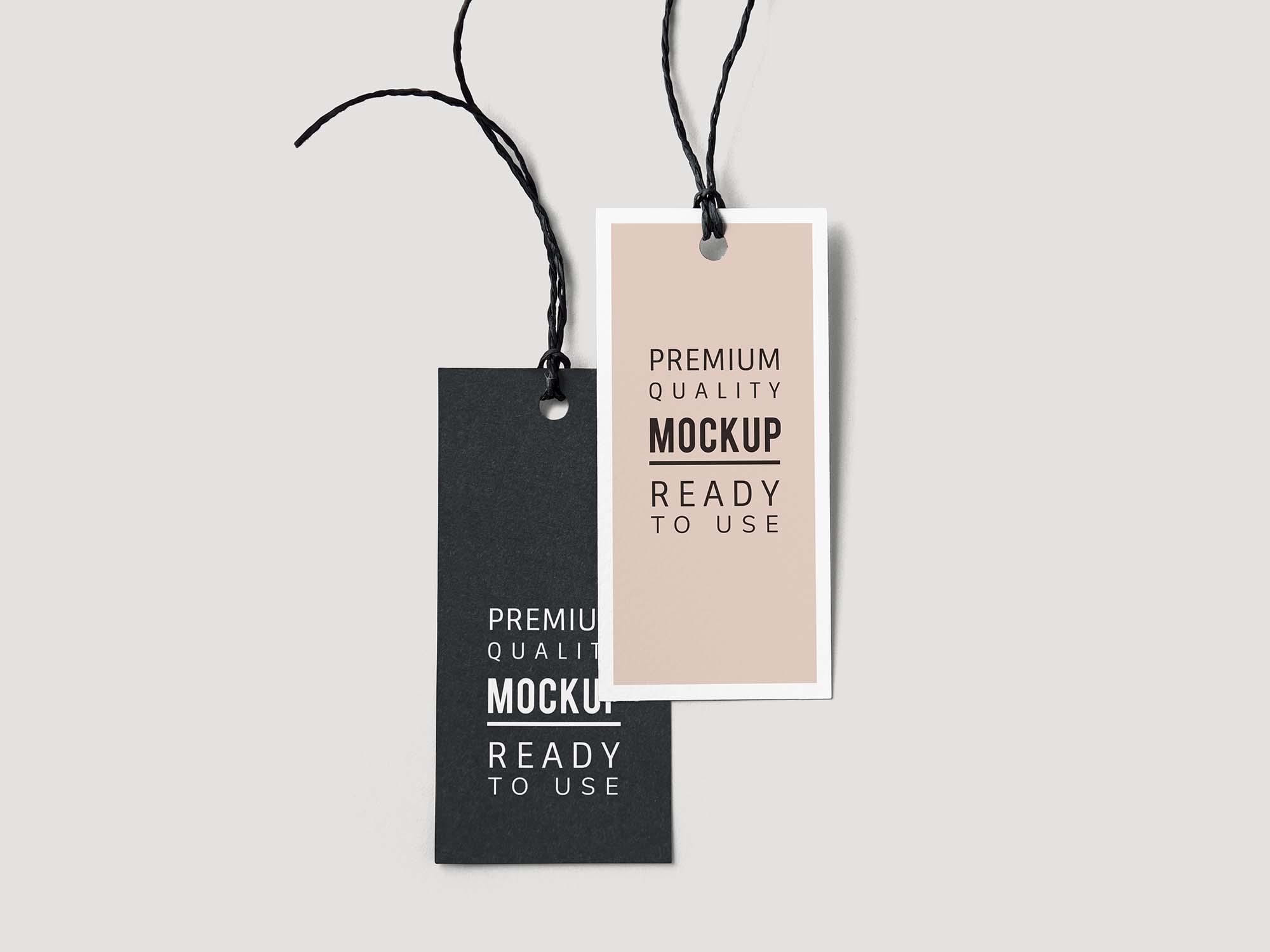 Fashion Label Tag Mockup