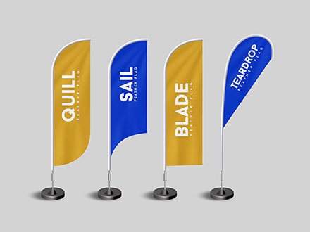 Feather Flag Mockups