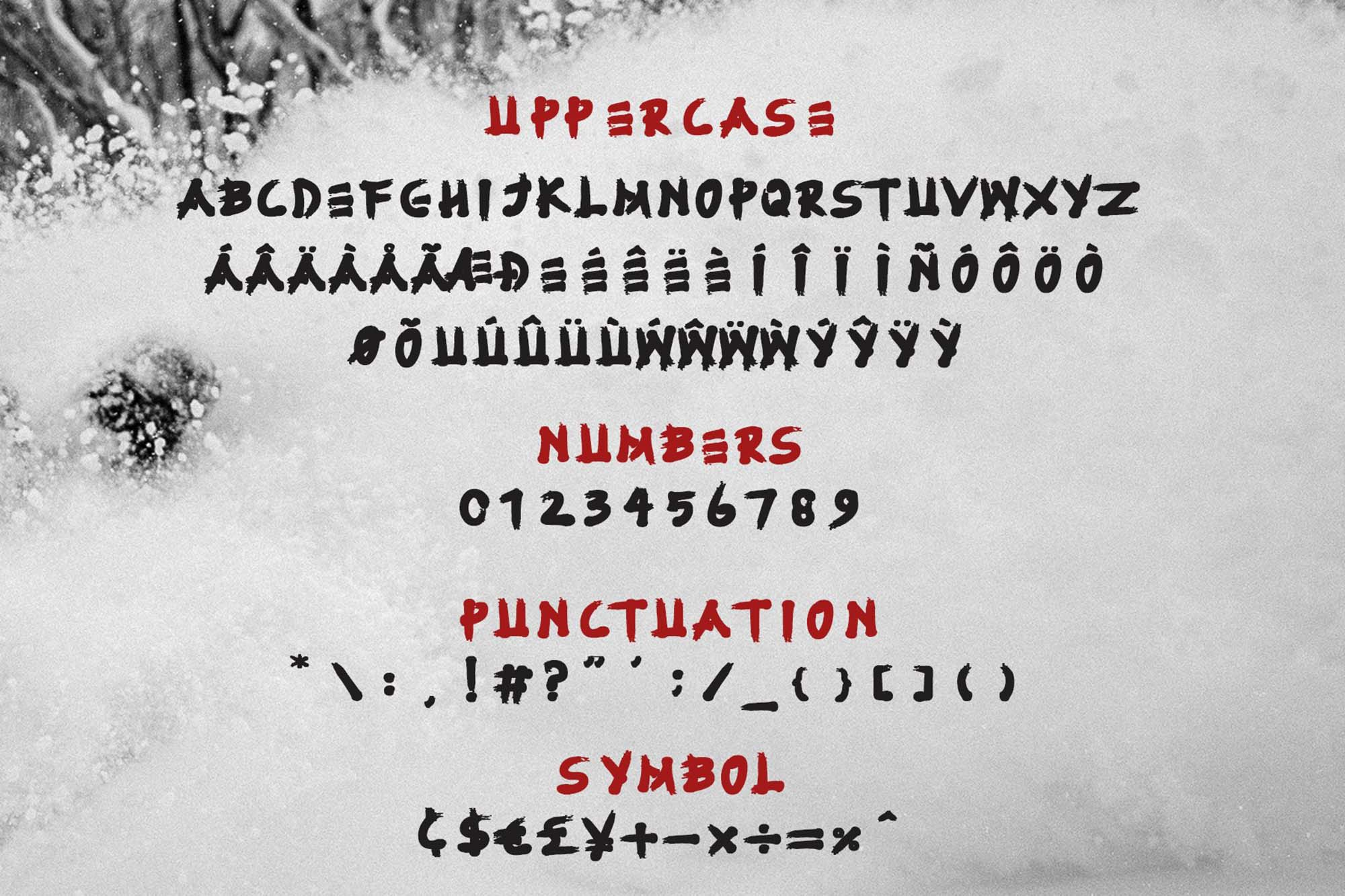 Fujimaru Font Characters