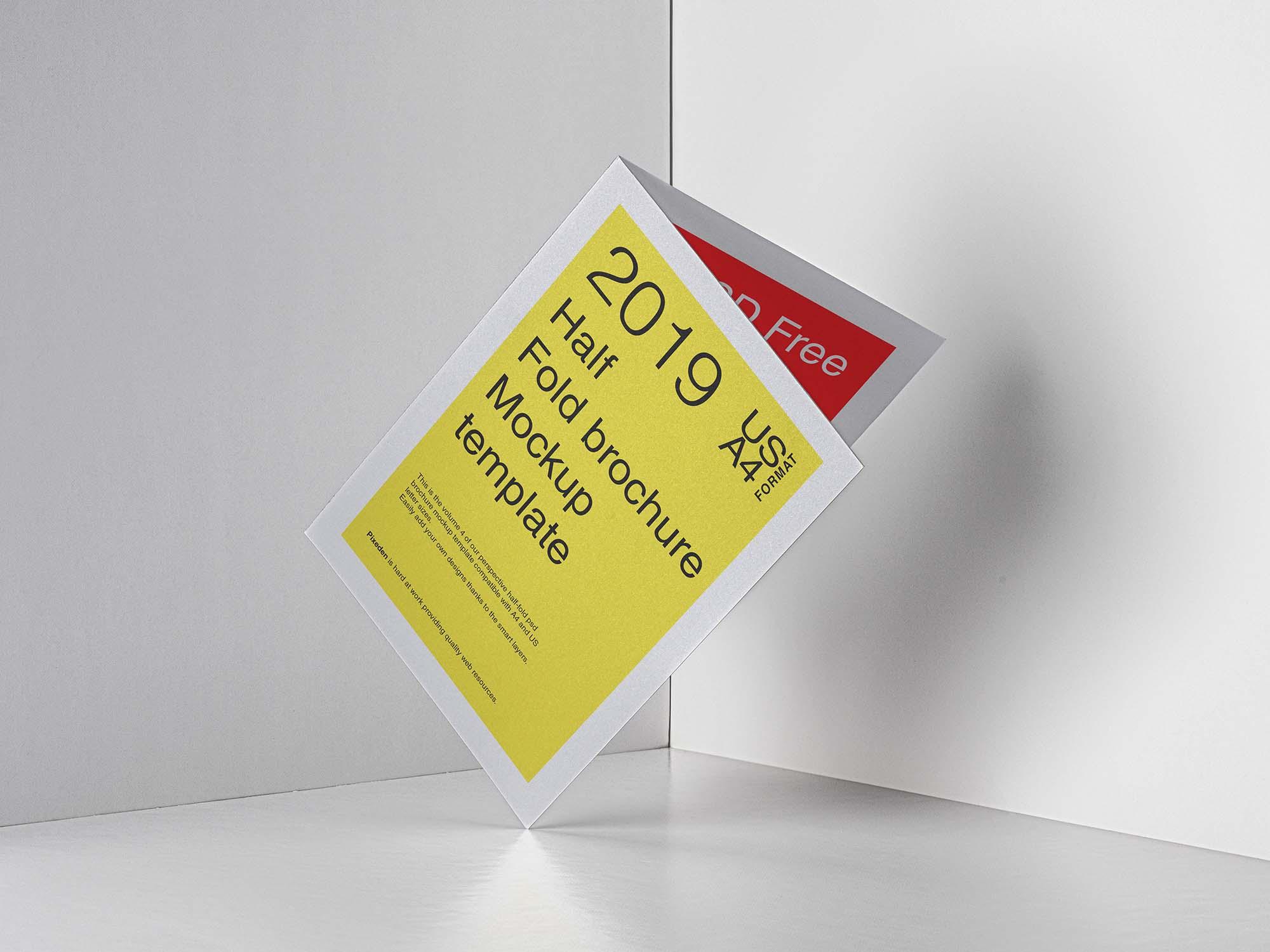 Half Fold Brochure Mockup 2