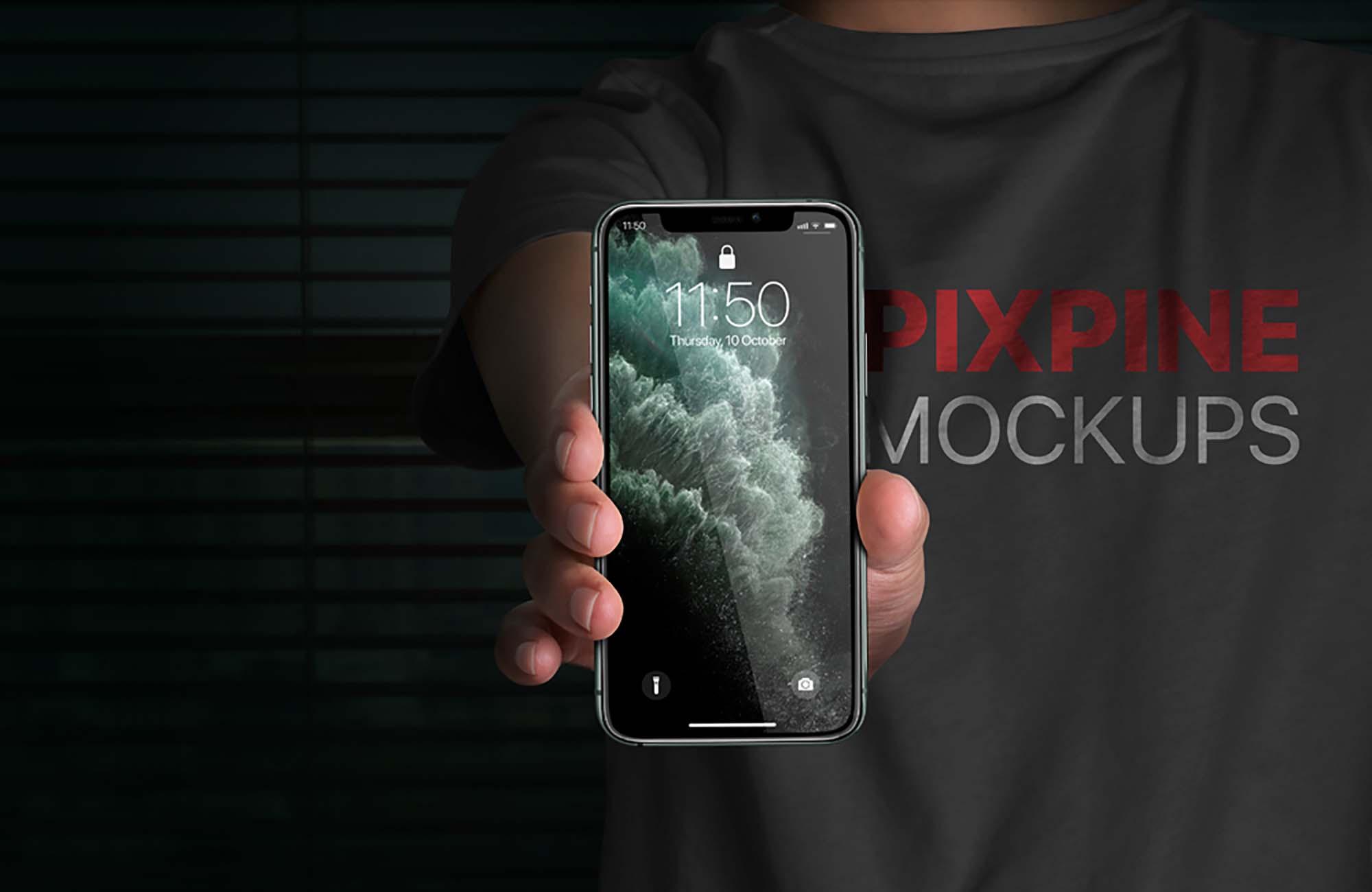Handheld iPhone 11 Pro Mockup 2