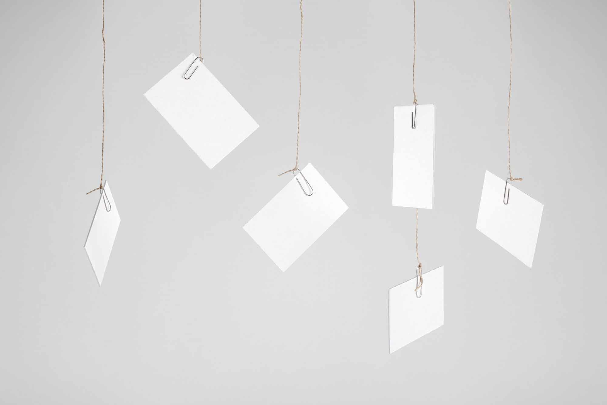Hanging Business Cards Mockup 2