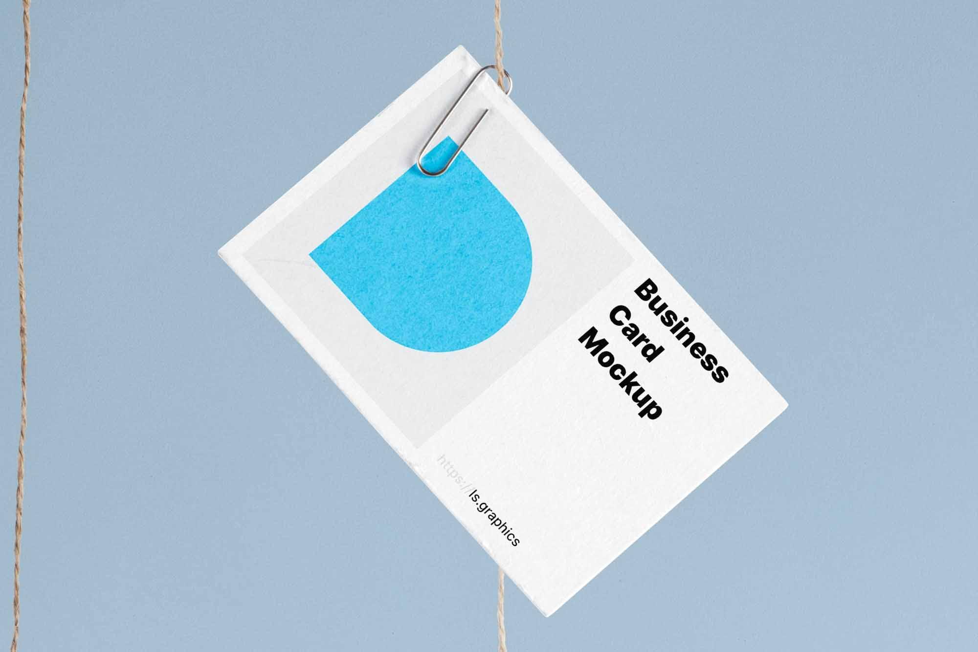 Hanging Business Cards Mockup 3