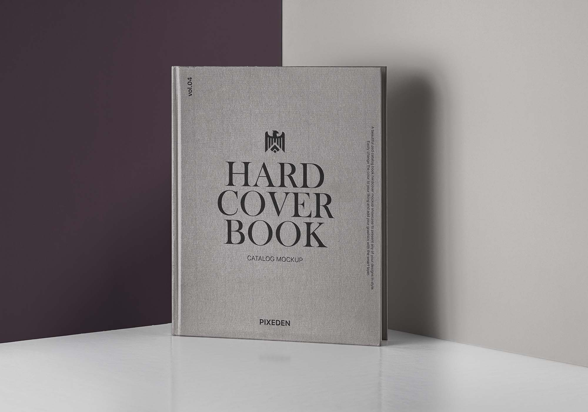 Hardcover Catalog Book Mockup