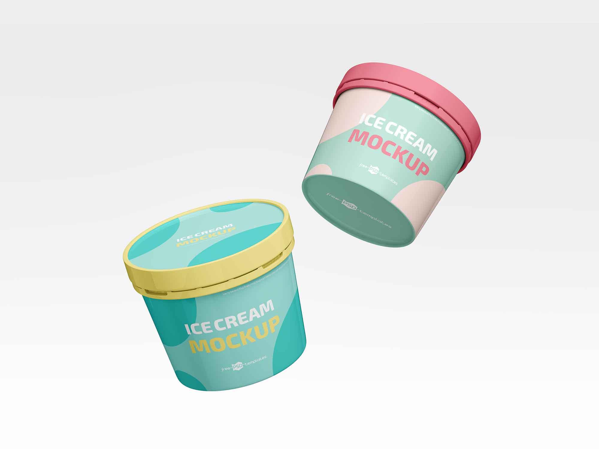 Ice Cream Plastic Jar Mockup 2