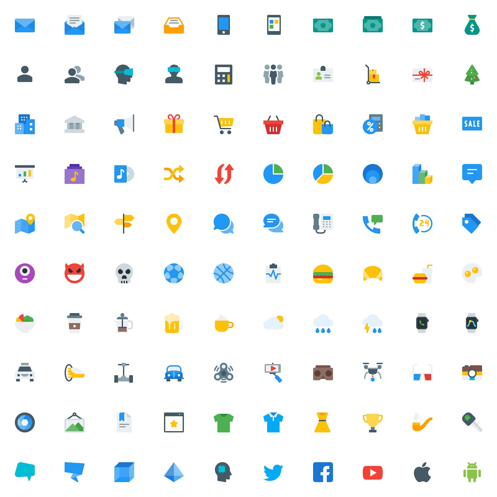 Icons Pack Colored