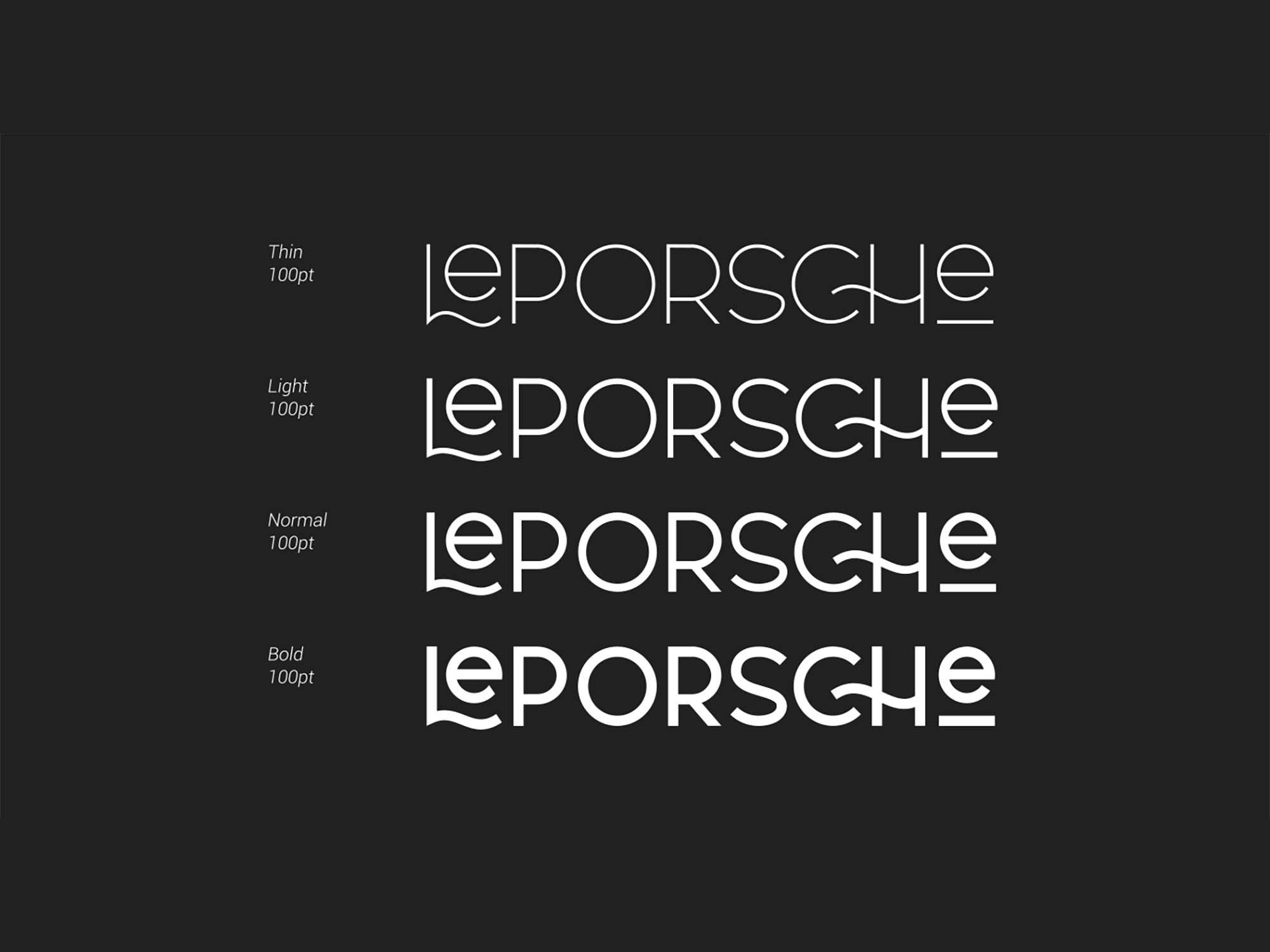Le Porsche Sans Font 2