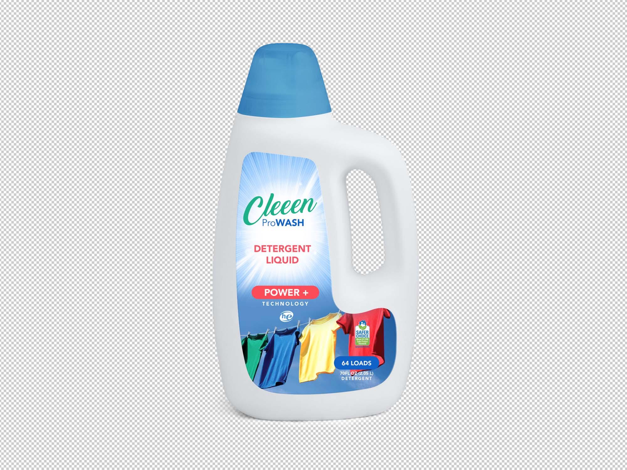 Liquid Detergent Bottle Mockup 2