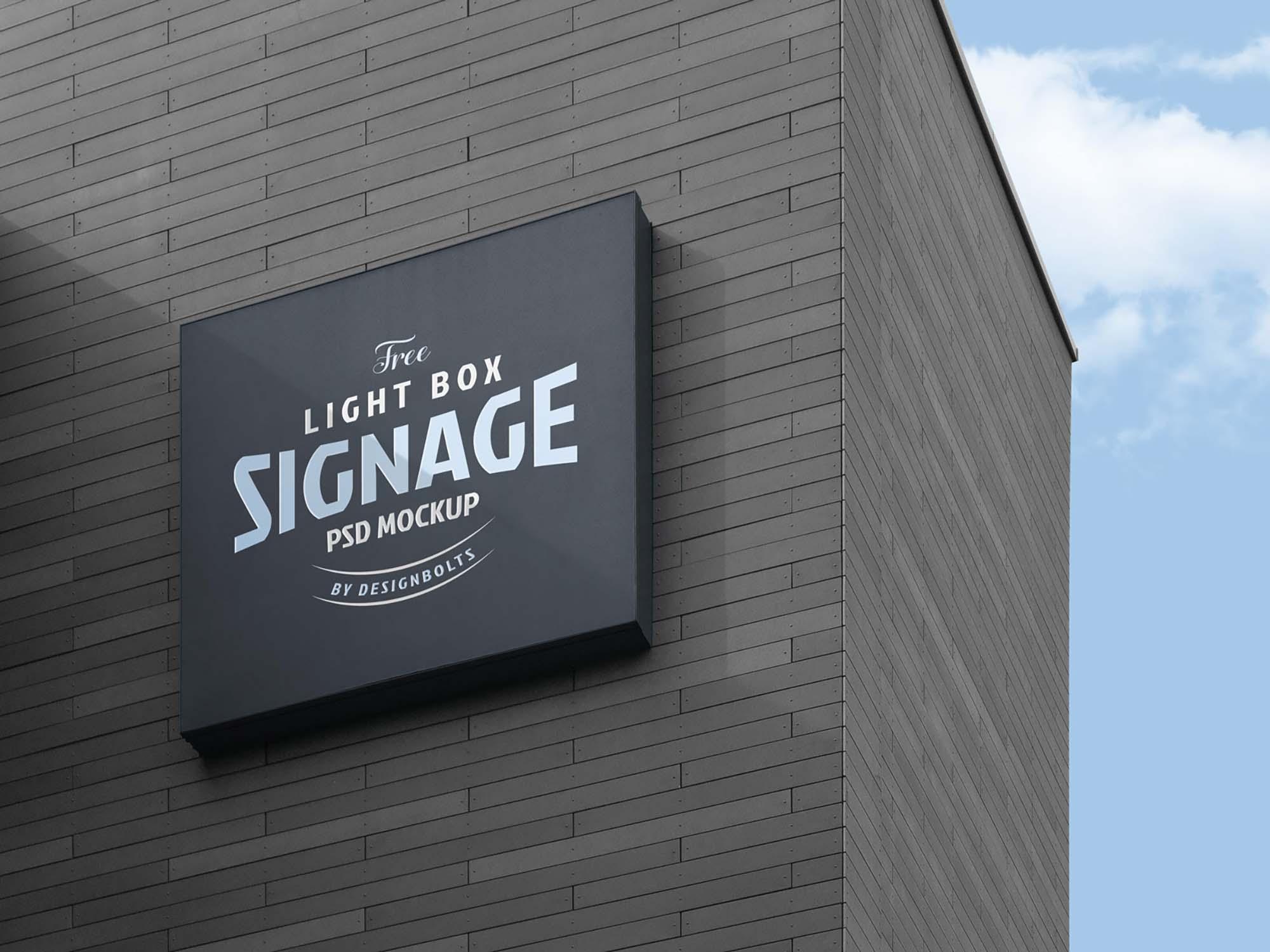 Logo Signage Board Mockup