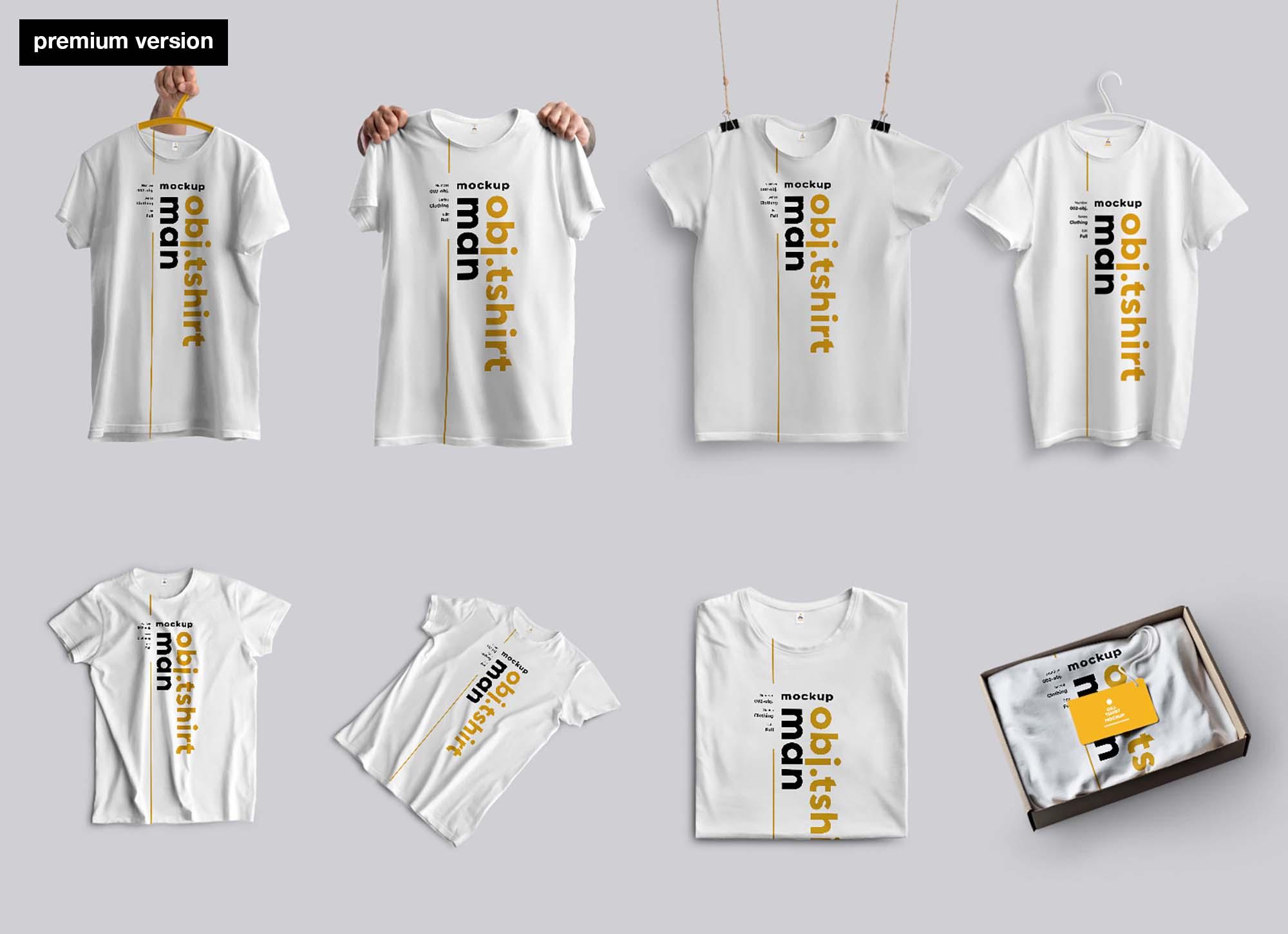 Men's T-shirt Mockup - Premium 2
